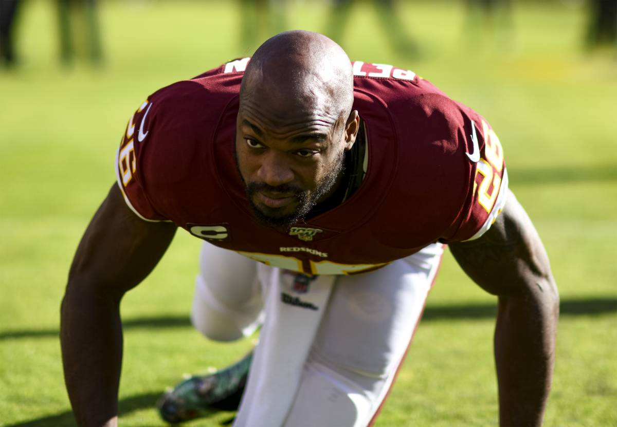 Adrian Peterson will have to continue his pursuit of Emmitt Smith's rushing records elsewhere. The Washington Football Team released Peterson on the eve of the 2020 season.