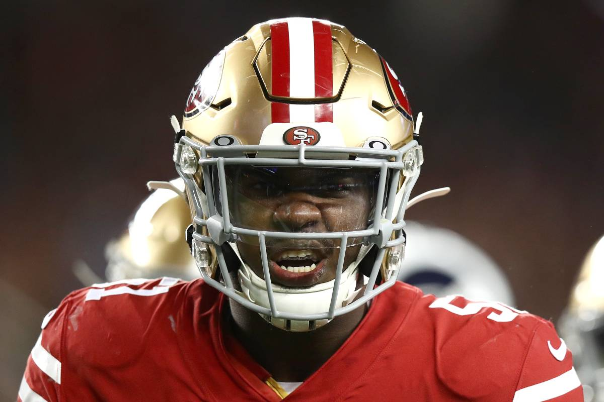 Azeez Al-Shaair, now with the San Francisco 49ers, was homeless in high school.