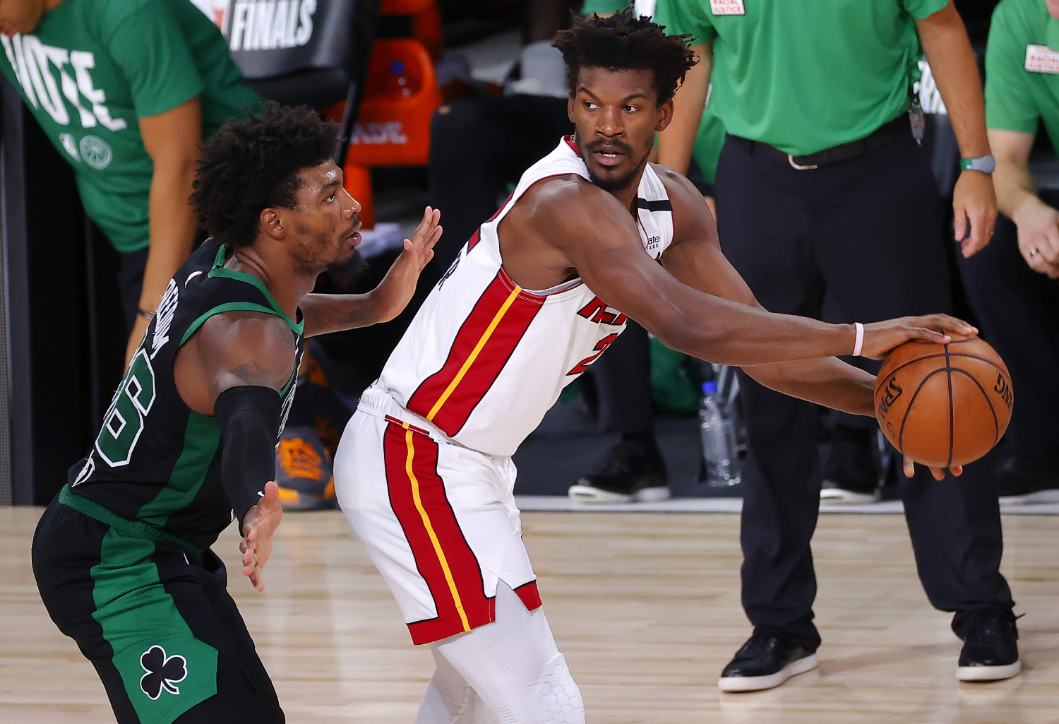 The Boston Celtics had some drama in the locker room after Thursday's loss to the Miami Heat.