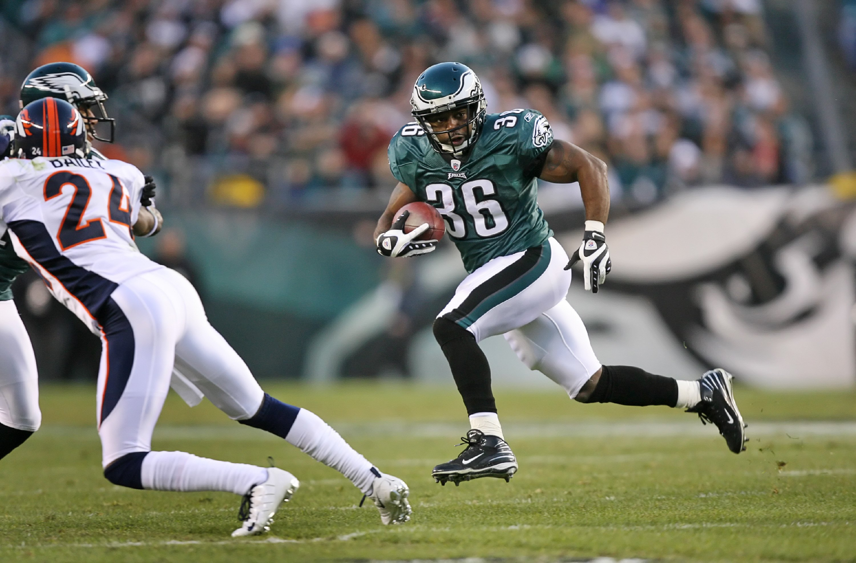 Brian Westbrook is down on the Philadelphia Eagles.