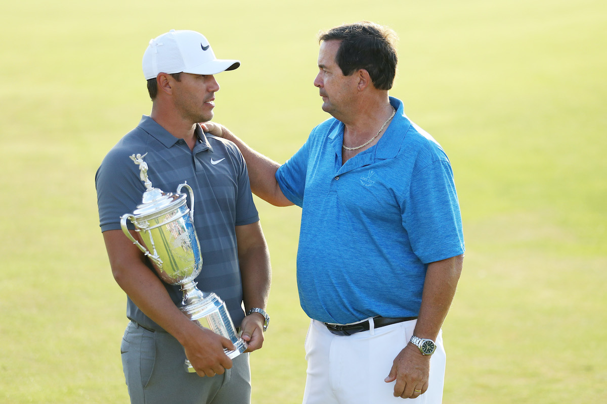 Golfer Brooks Koepka and his dad