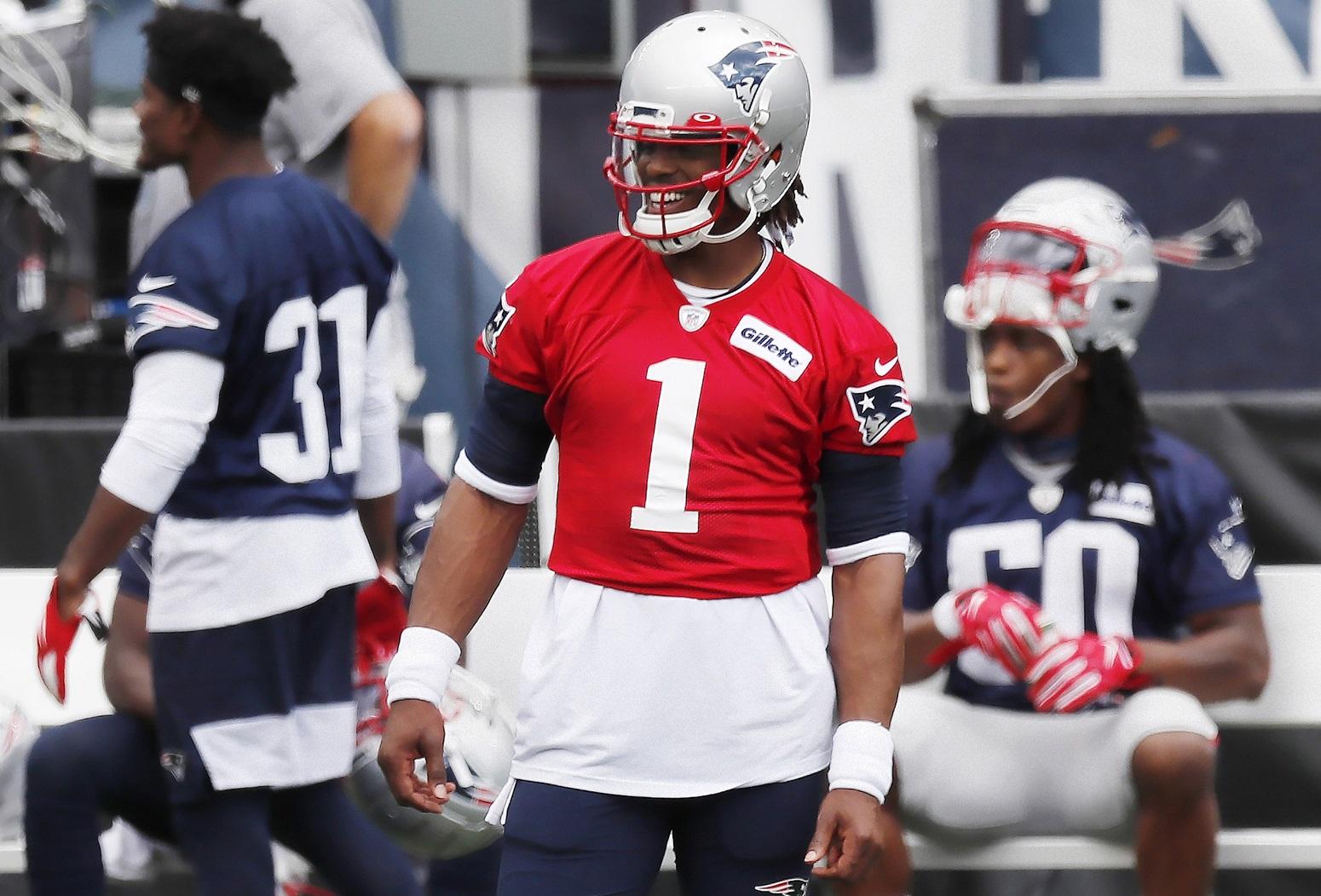 Cam Newton Bill Belichick Patriots