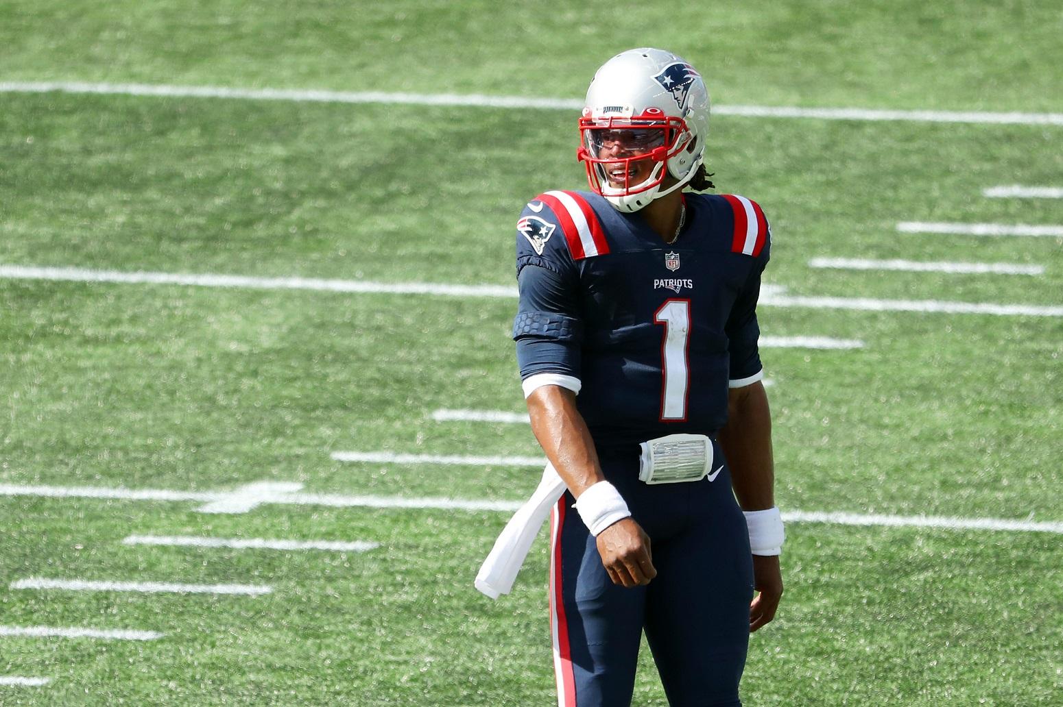 Cam Newton Tom Brady Patriots Bill Belichick