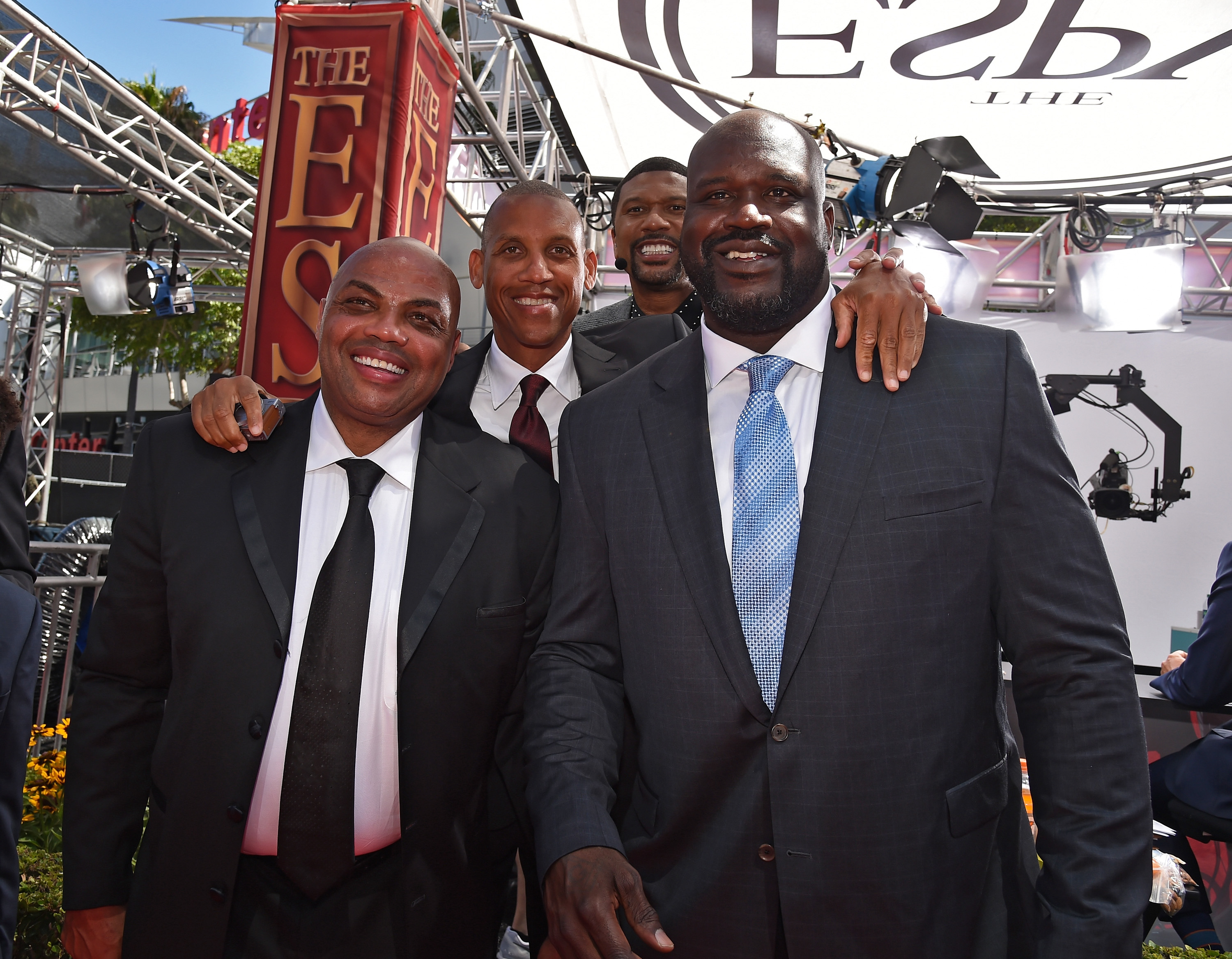 Hall of Fame legends Charles Barkley (L) and Shaquille O'Neal (R) are under fire for their controversial takes on the Breonna Taylor shooting.