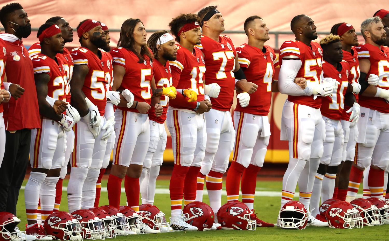 NFL game national anthem.