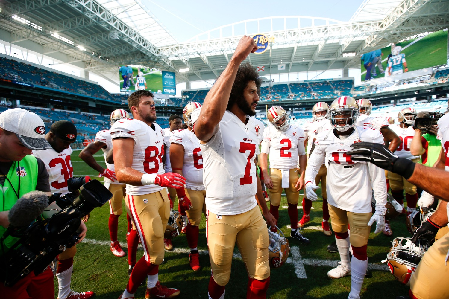 Colin Kaepernick just completed his NFL comeback in an unexpected way.
