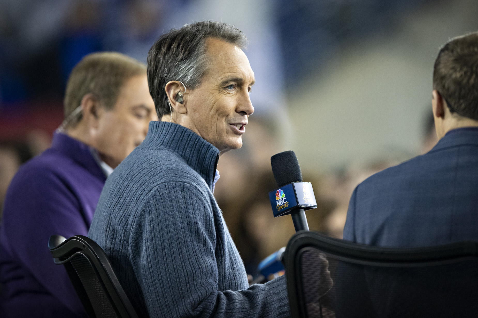 Due to social distancing, Cris Collinsworth won't be sliding into the NBC broadcast booth this season.