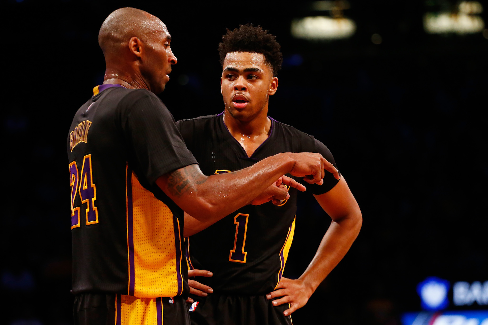 Early in his NBA career, D'Angelo Russell learned an invaluable lesson from Kobe Bryant and Damian Lillard.
