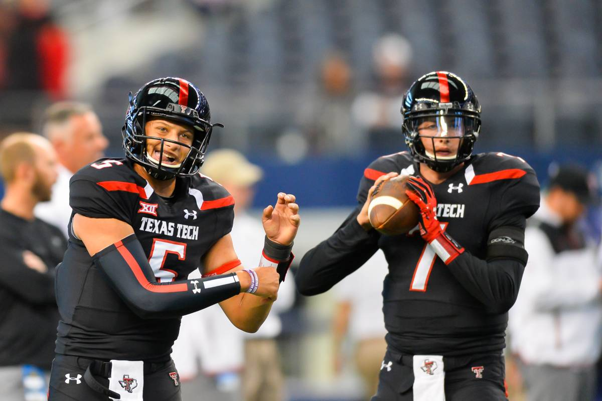 Patrick Mahomes (L) and Davis Webb played together at Texas Tech in 2014 and 2015. Mahomes is a star with the Kansas City Chiefs. Where is Davis Webb?