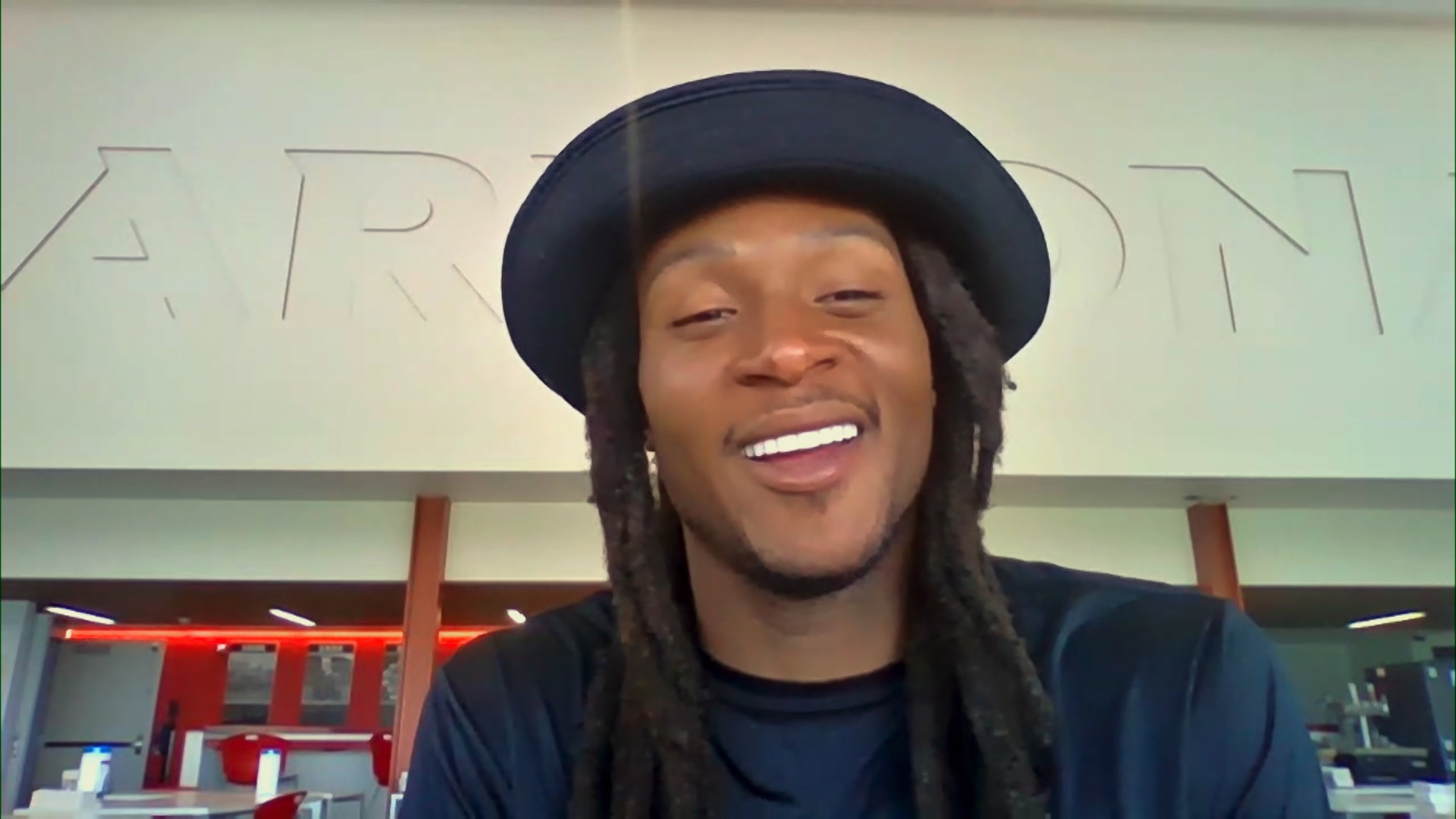 DeAndre Hopkins appearing for a segment on 'The Tonight Show'