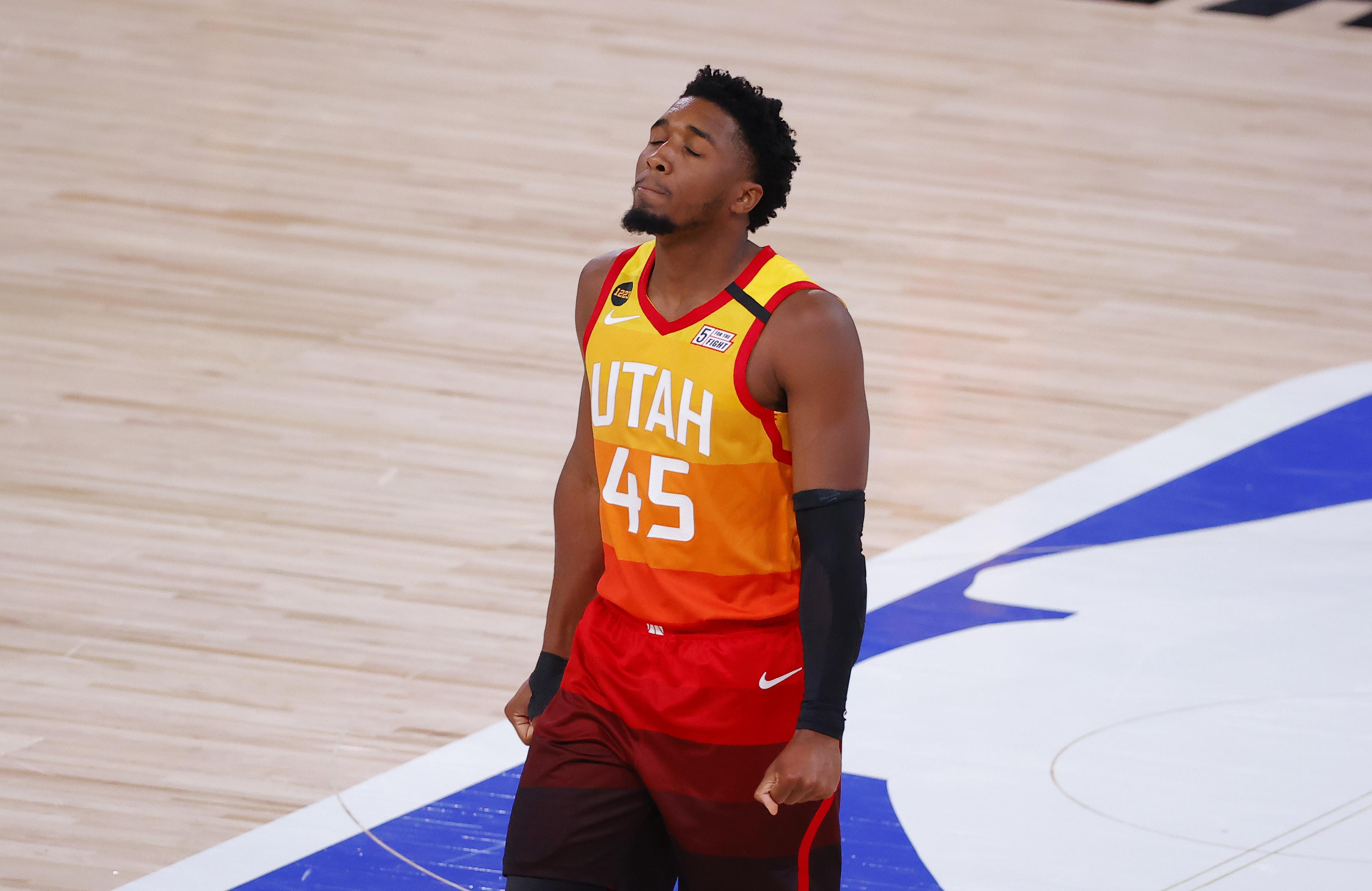 The Utah Jazz's Donovan Mitchell