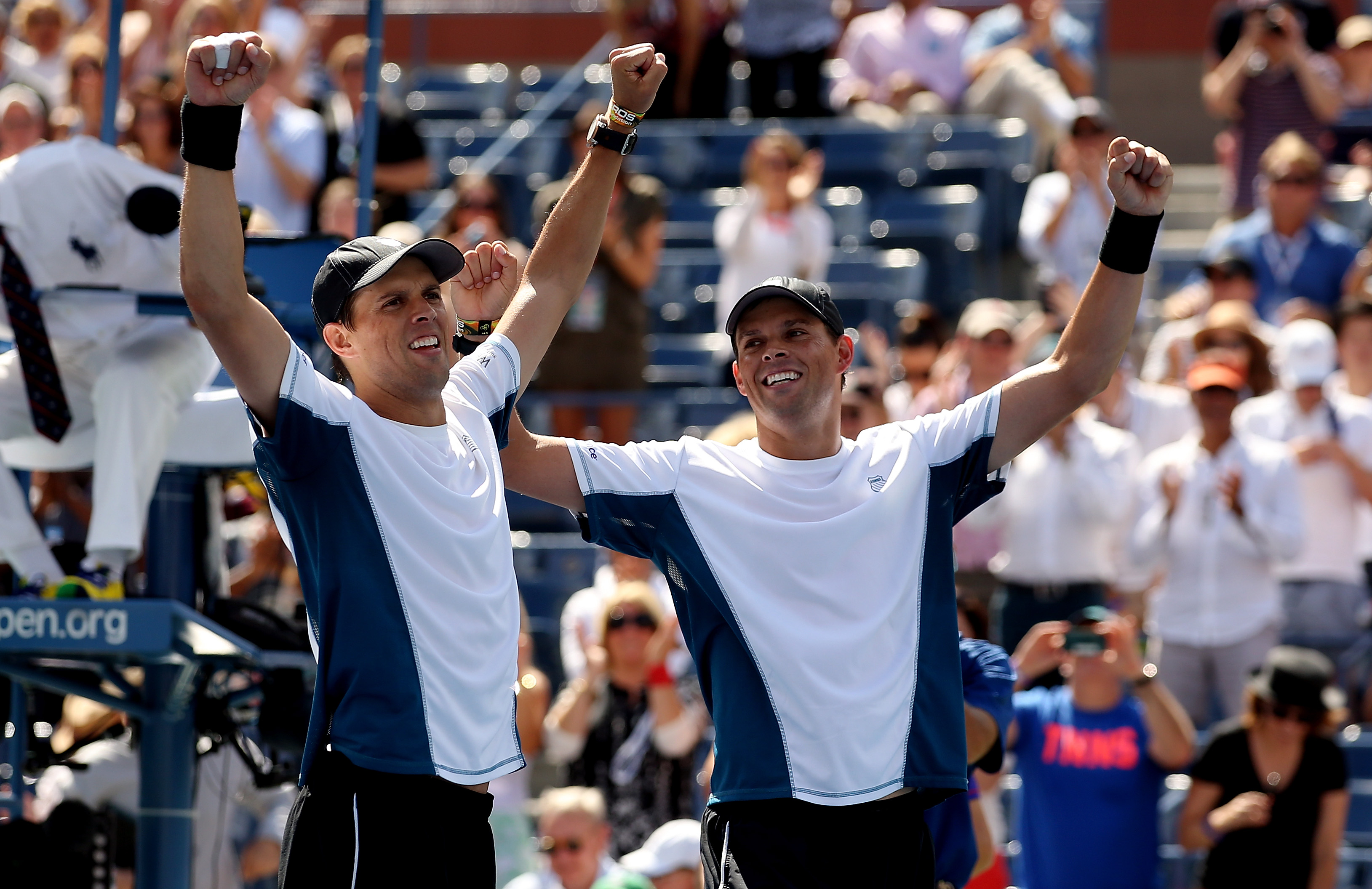 Twins and doubles partners Bob Bryan and Mike Bryan