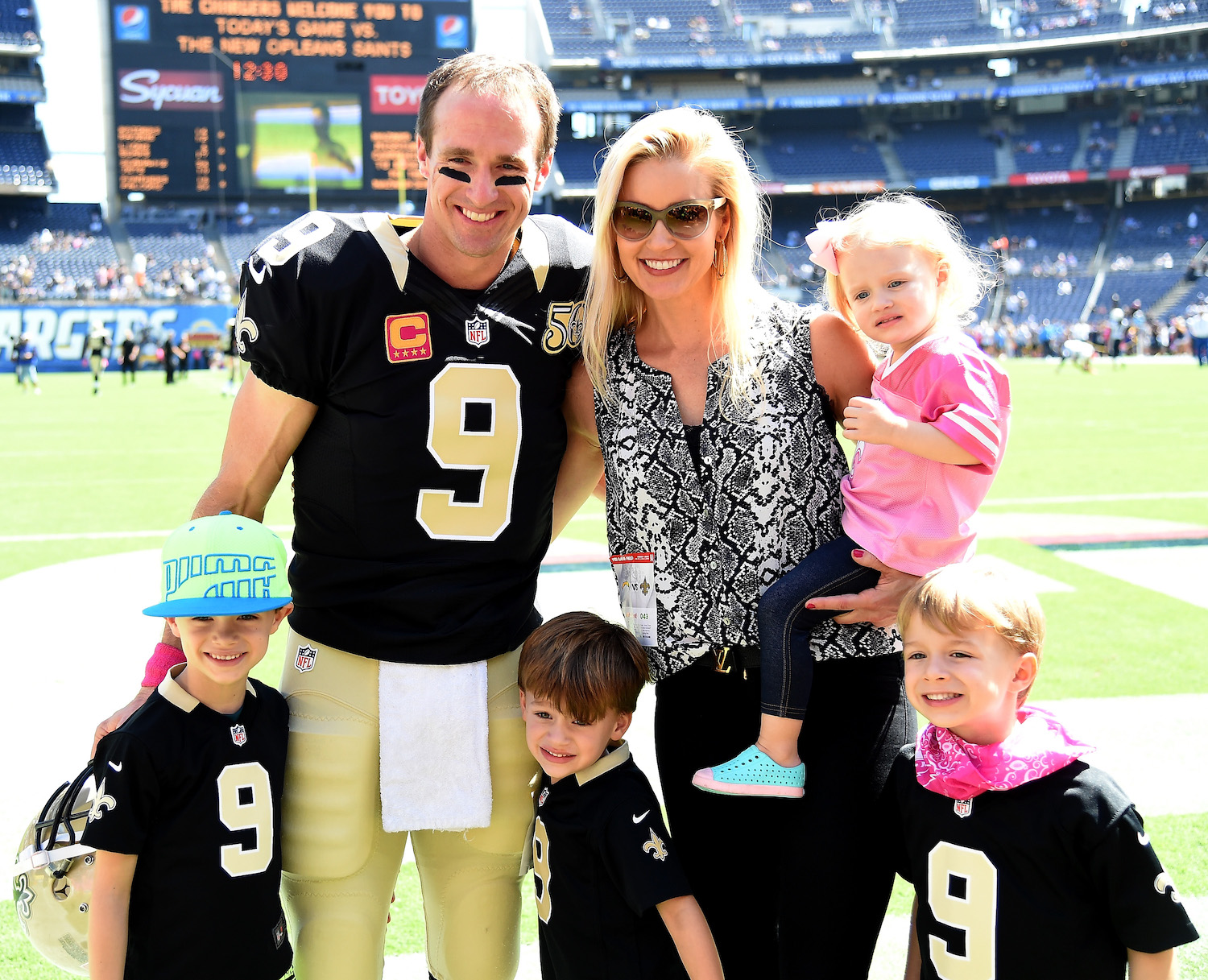 Drew Brees with family.