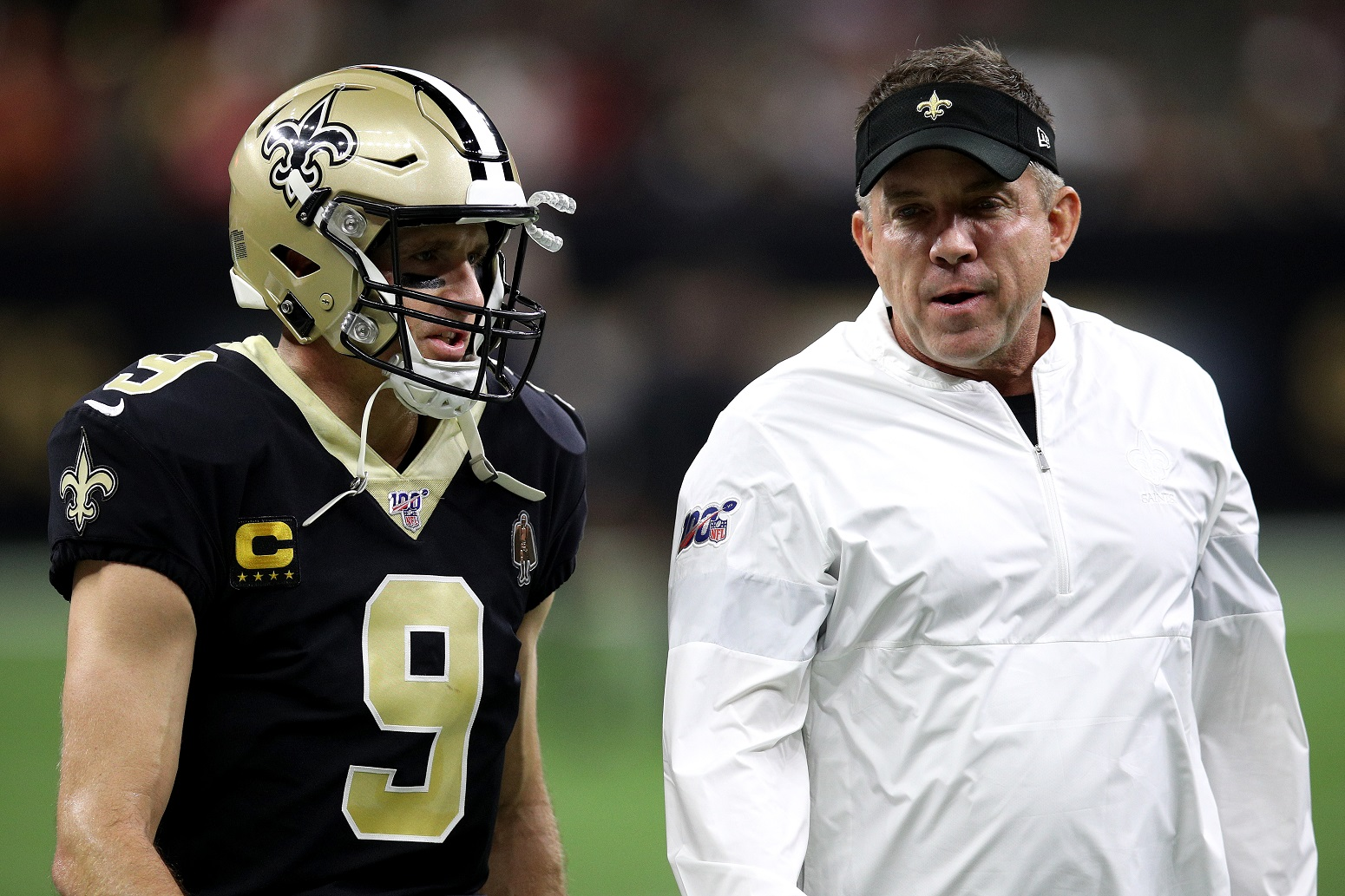 Drew Brees Sean Payton Saints NFL
