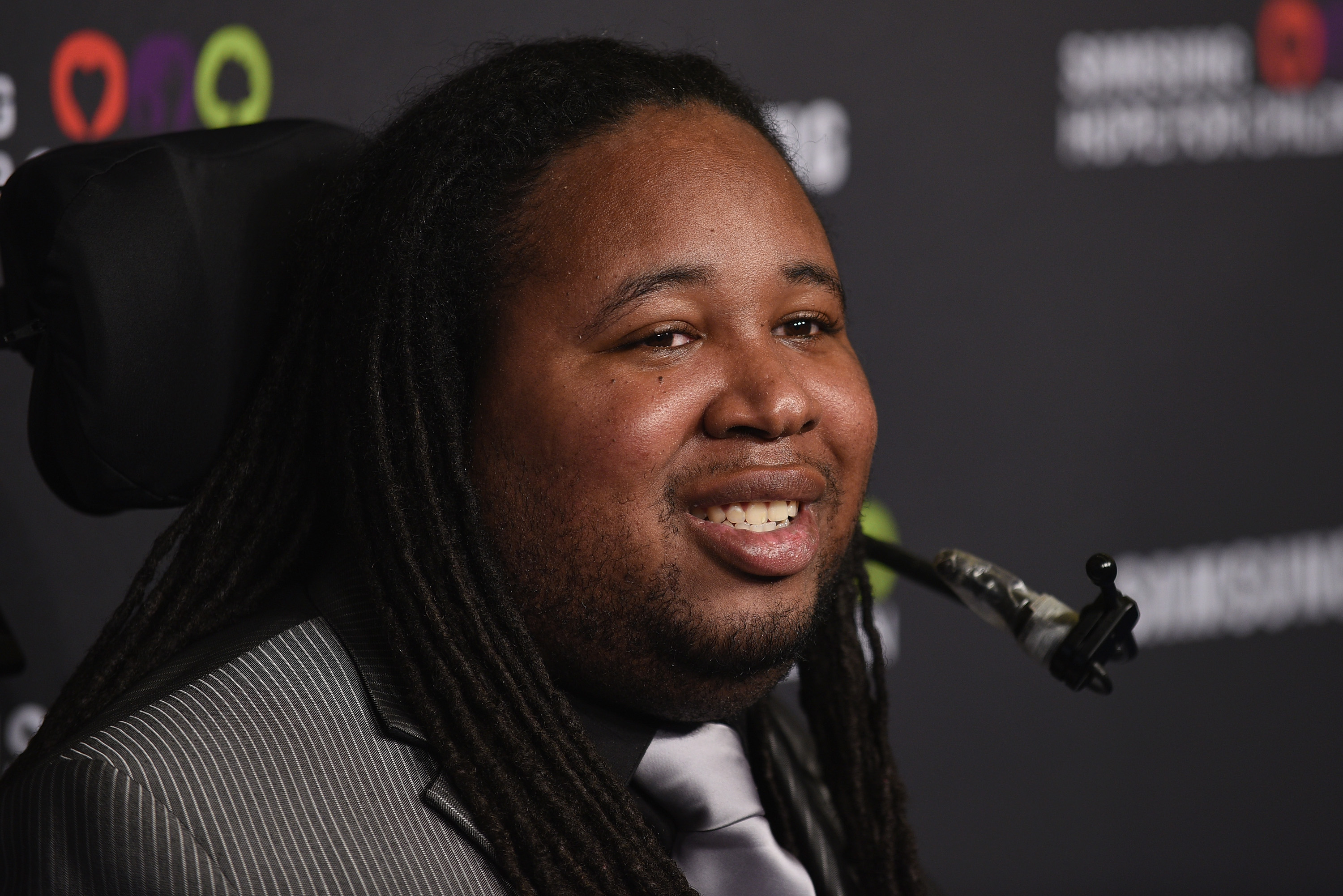 Eric LeGrand attends a charity event