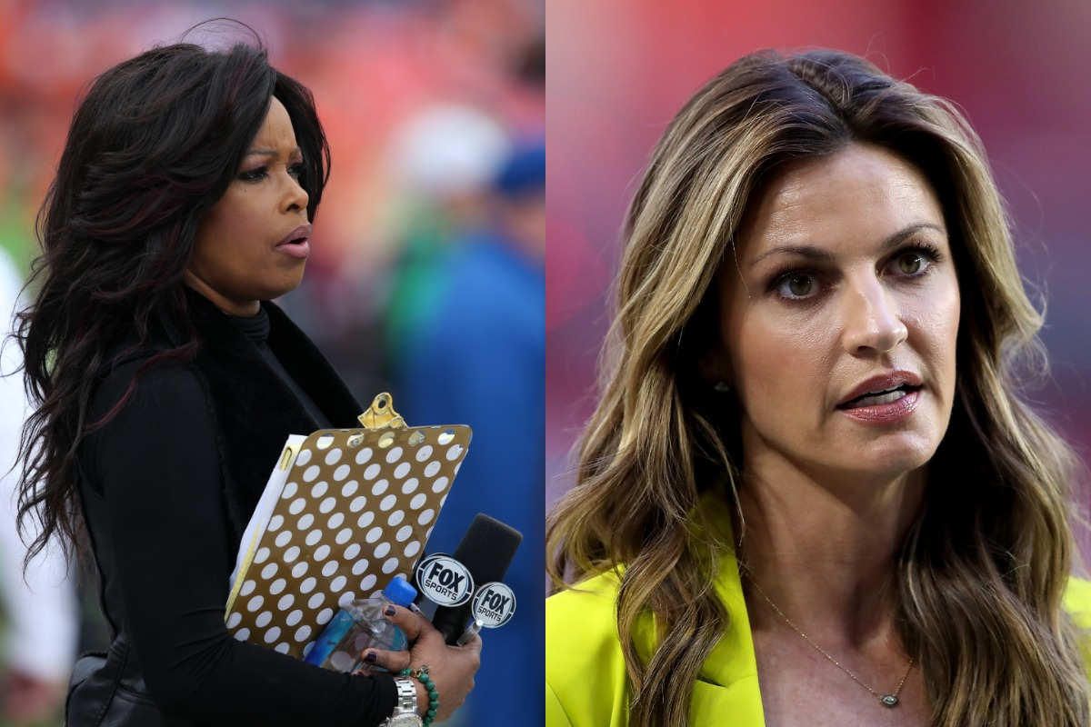 "Pam Oliver (L) has been a mainstay for football fans since 1995. When Fox demoted Oliver for Erin Andrews in 2014, she said she was ""humiliated."""