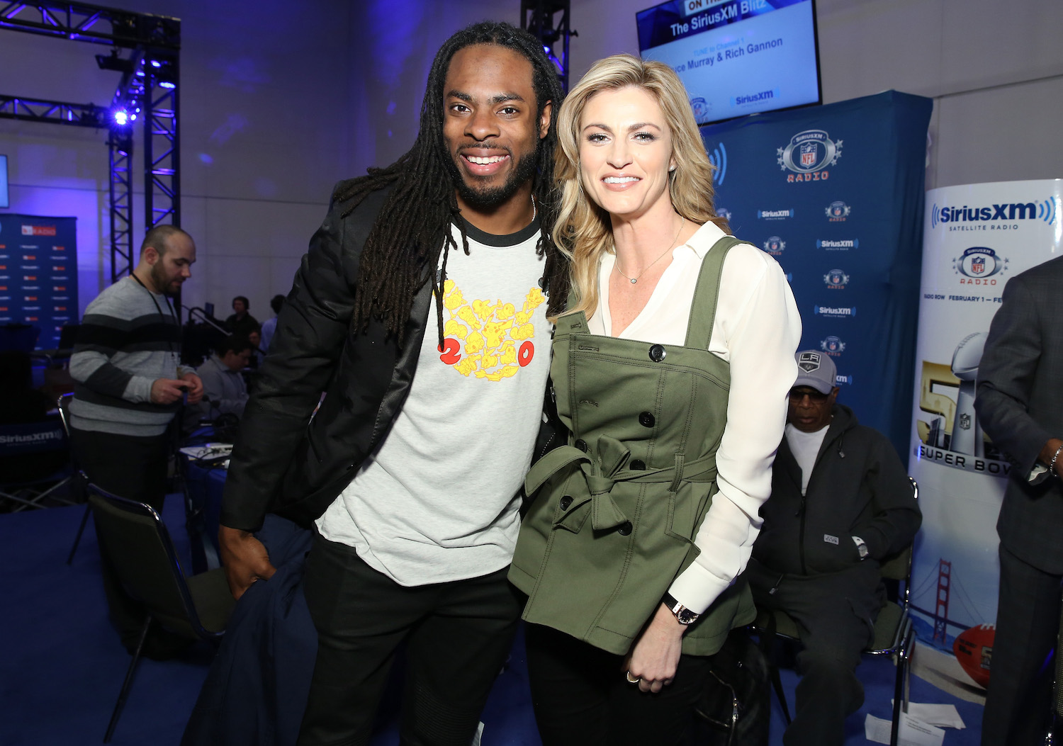 Richard Sherman and Erin Andrews