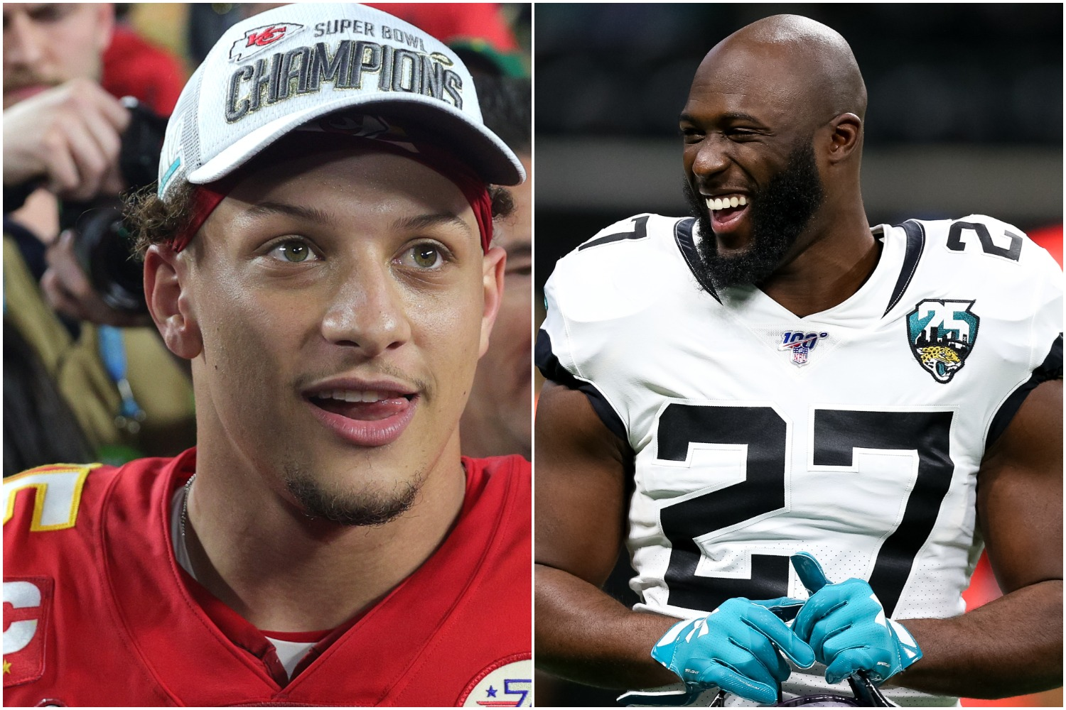 Leonard Fournette and Patrick Mahomes could join forces if the Chiefs pull the trigger and sign the former Jaguars running back.