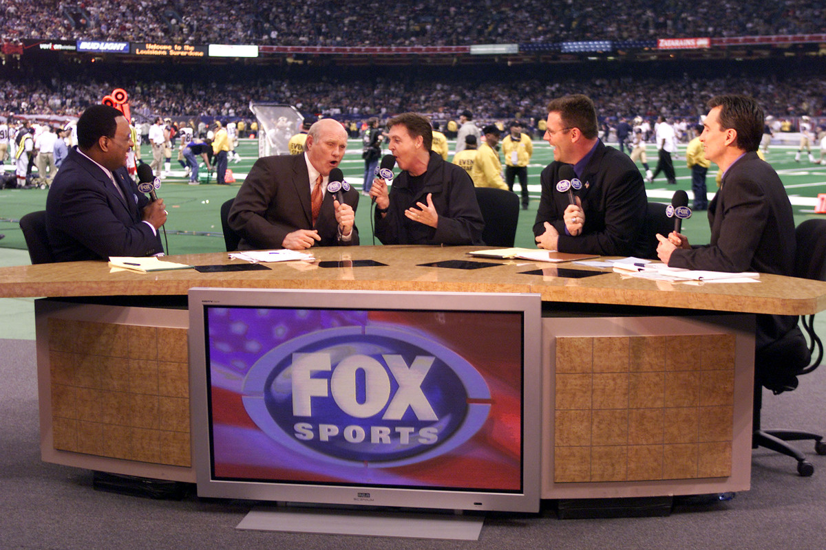 Terry Bradshaw (second from left), Howie Long (second from right), and the rest of the 'Fox NFL Sunday' have been a mainstay since 1994.