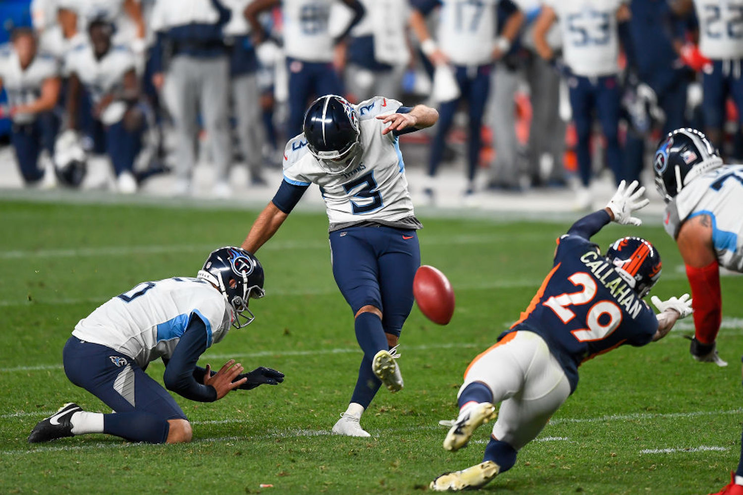 Stephen Gostkowski redeemed himself by making the game-winning field goal Monday night, but Titans fans shouldn't be too thrilled.