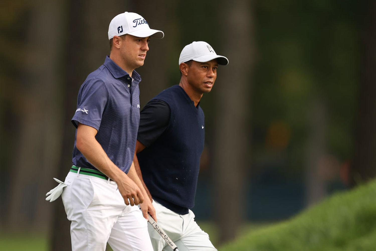 Justin Thomas and Tiger Woods are now good friends, but his first visit to the big cat's house didn't go as well as he hoped.