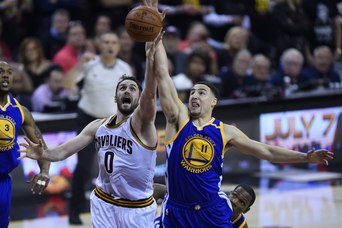 Kevin Love and Klay Thompson