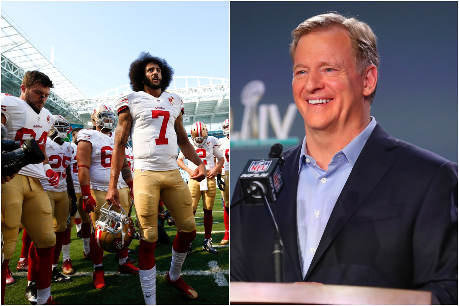Roger Goodell just admitted his true feelings about Colin Kaepernick, who has not played in the NFL since 2016.