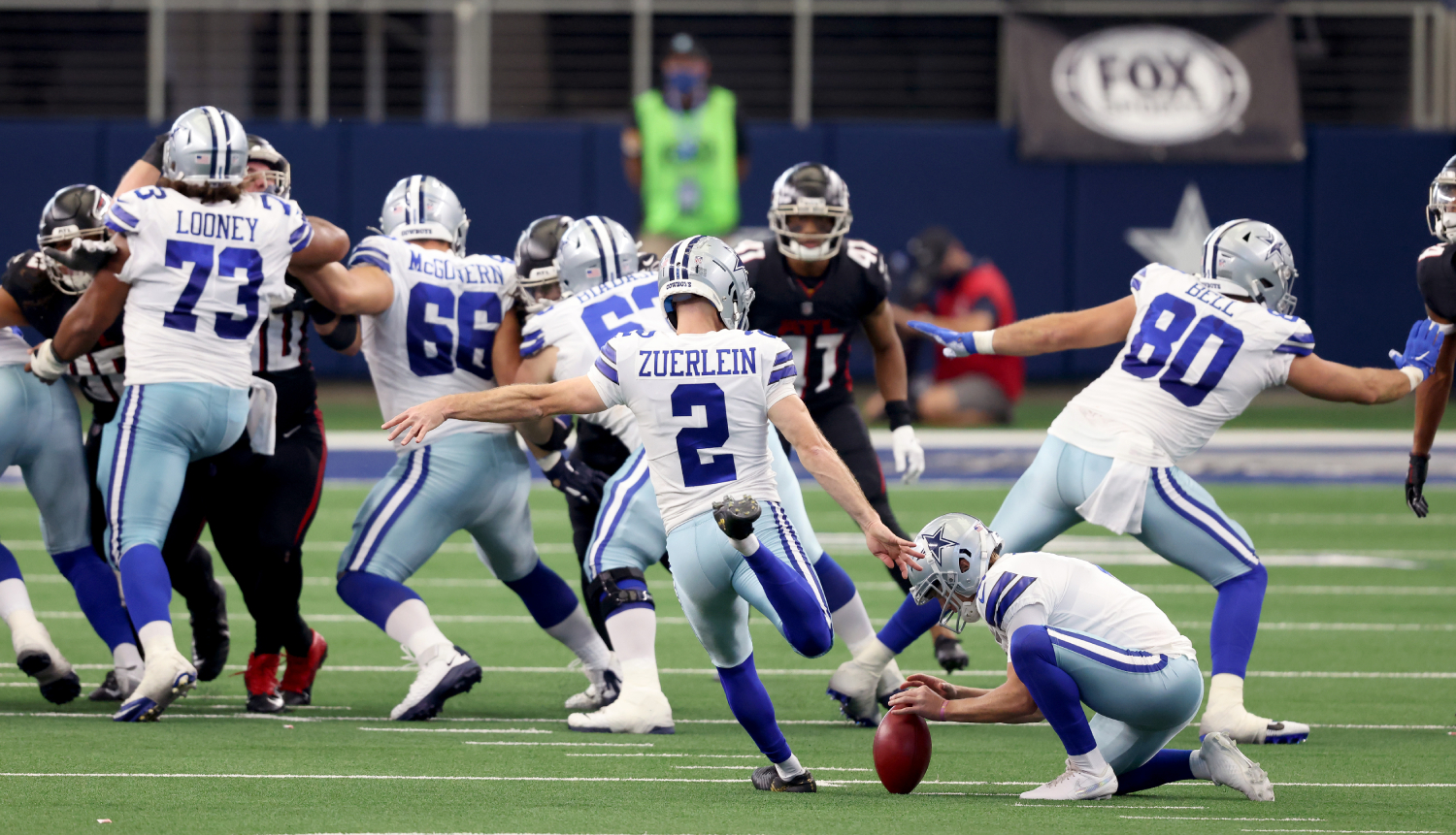 Greg Zuerlein may have saved the Dallas Cowboys' season in Week 2