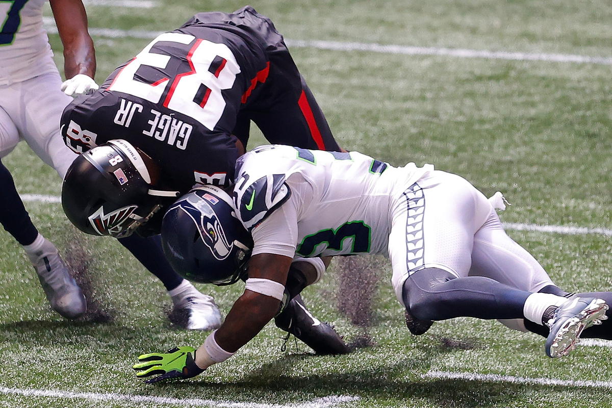 Seahawks safety Jamal Adams (white) needs to let his play do the talking and stop insulting the Jets, his former team. |