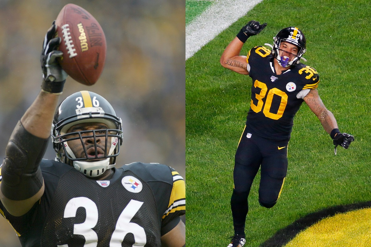 Longtime Steelers running back Jerome Bettis (L) just outlined James Conner's biggest challenge for the 2020 season.