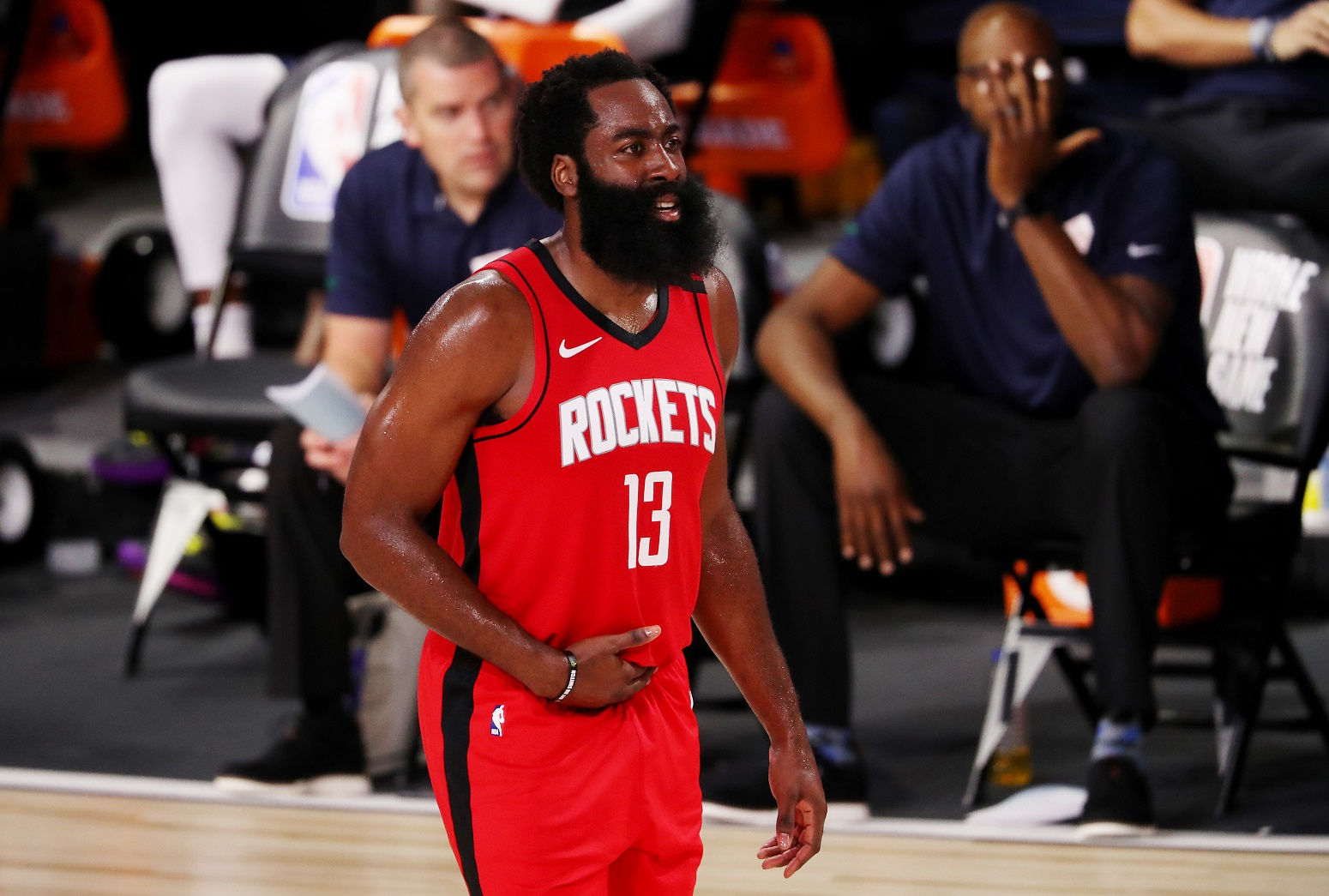 James Harden Rockets shaving beard