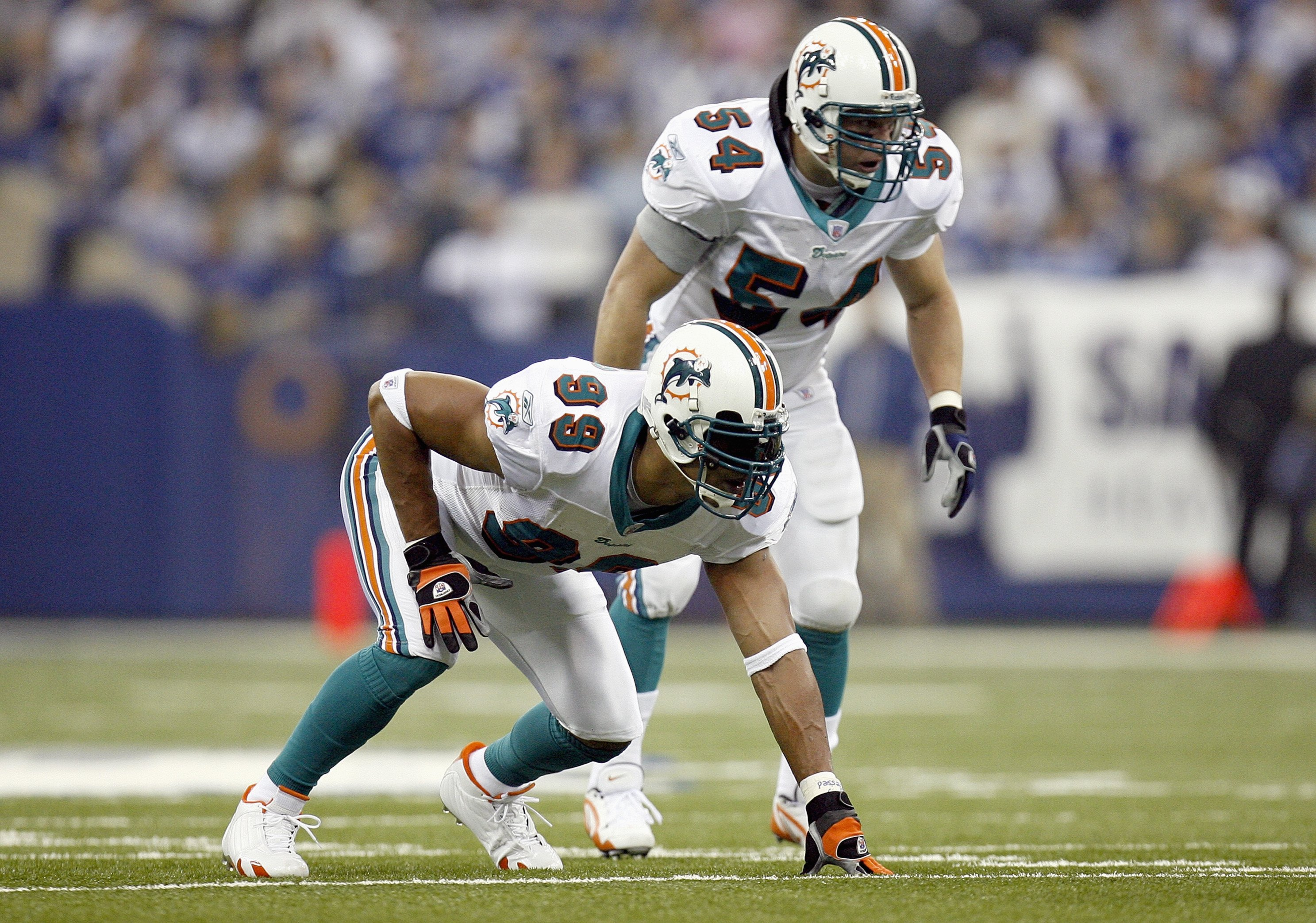 Dolphins' Zach Thomas and Jason Taylor