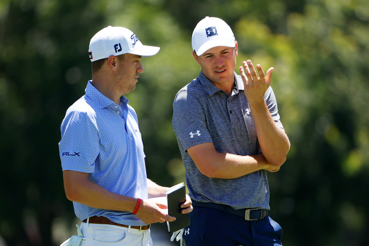 Golfers Justin Thomas and Jordan Spieth