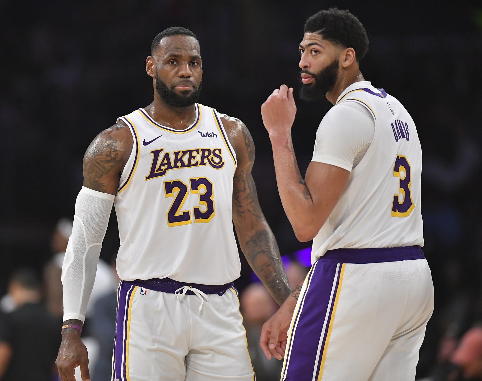 LeBron James Anthony Davis Lakers impassioned message