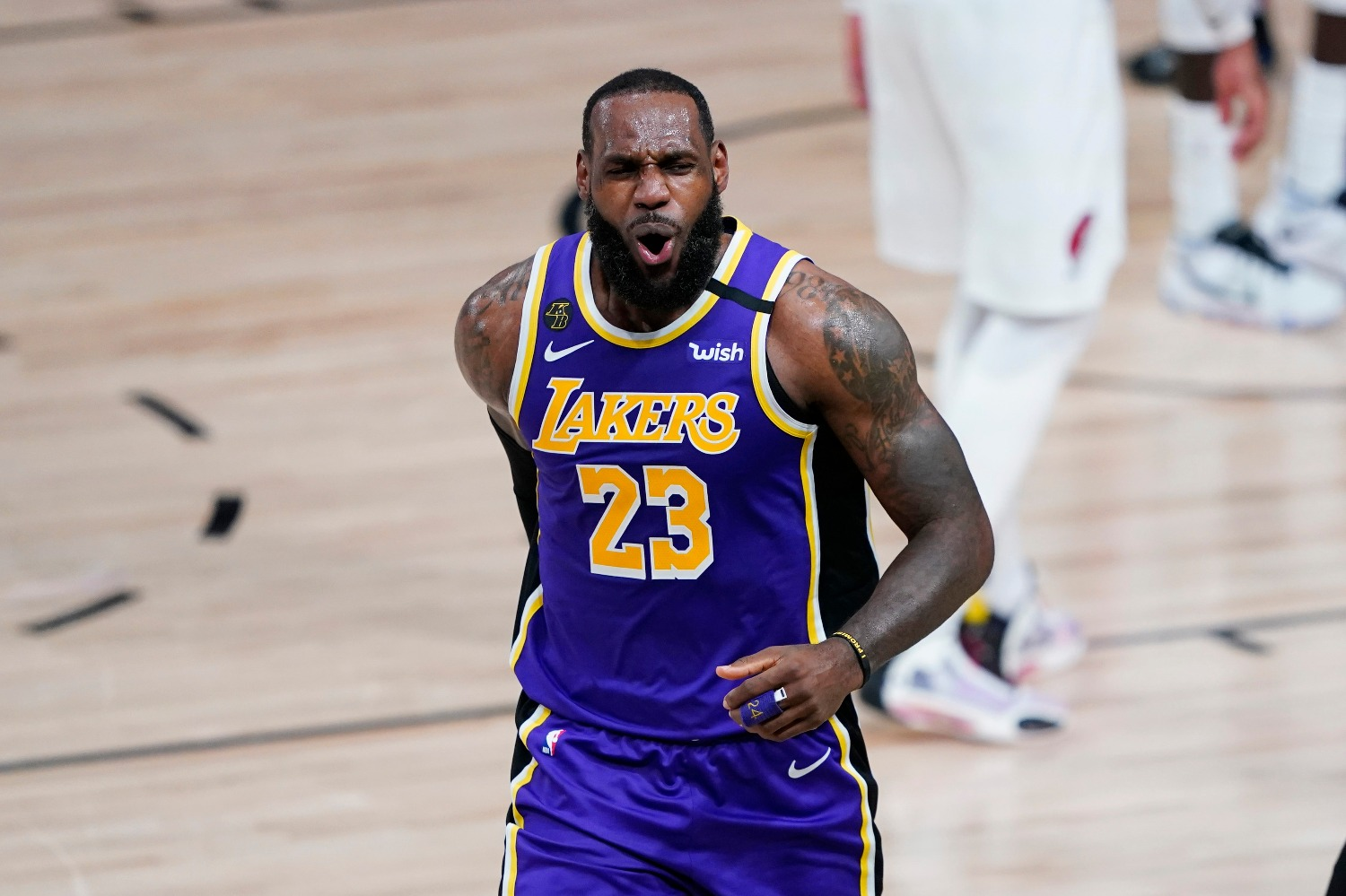 Lakers star LeBron James revealed how he stays sane in the NBA bubble in Orlando.