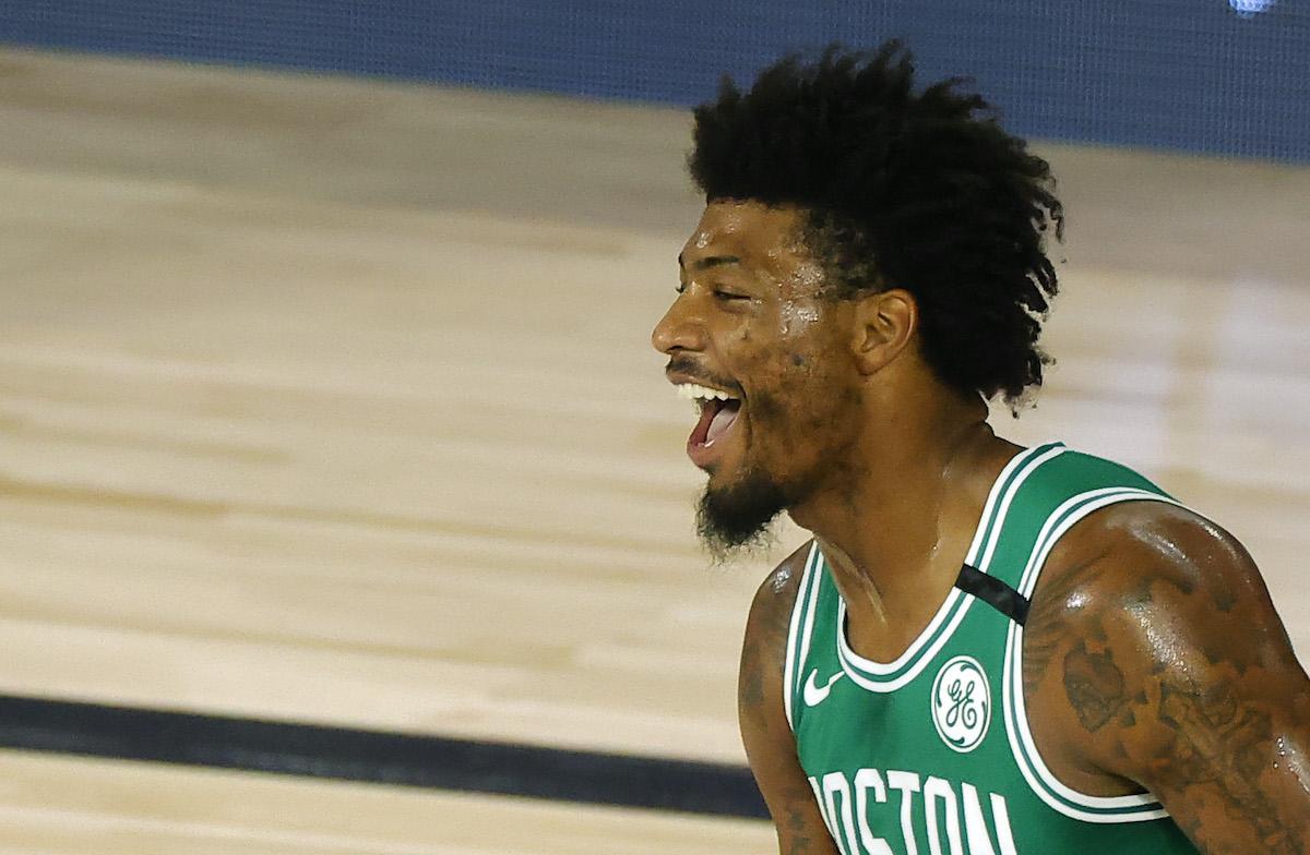 The Celtics' Marcus Smart