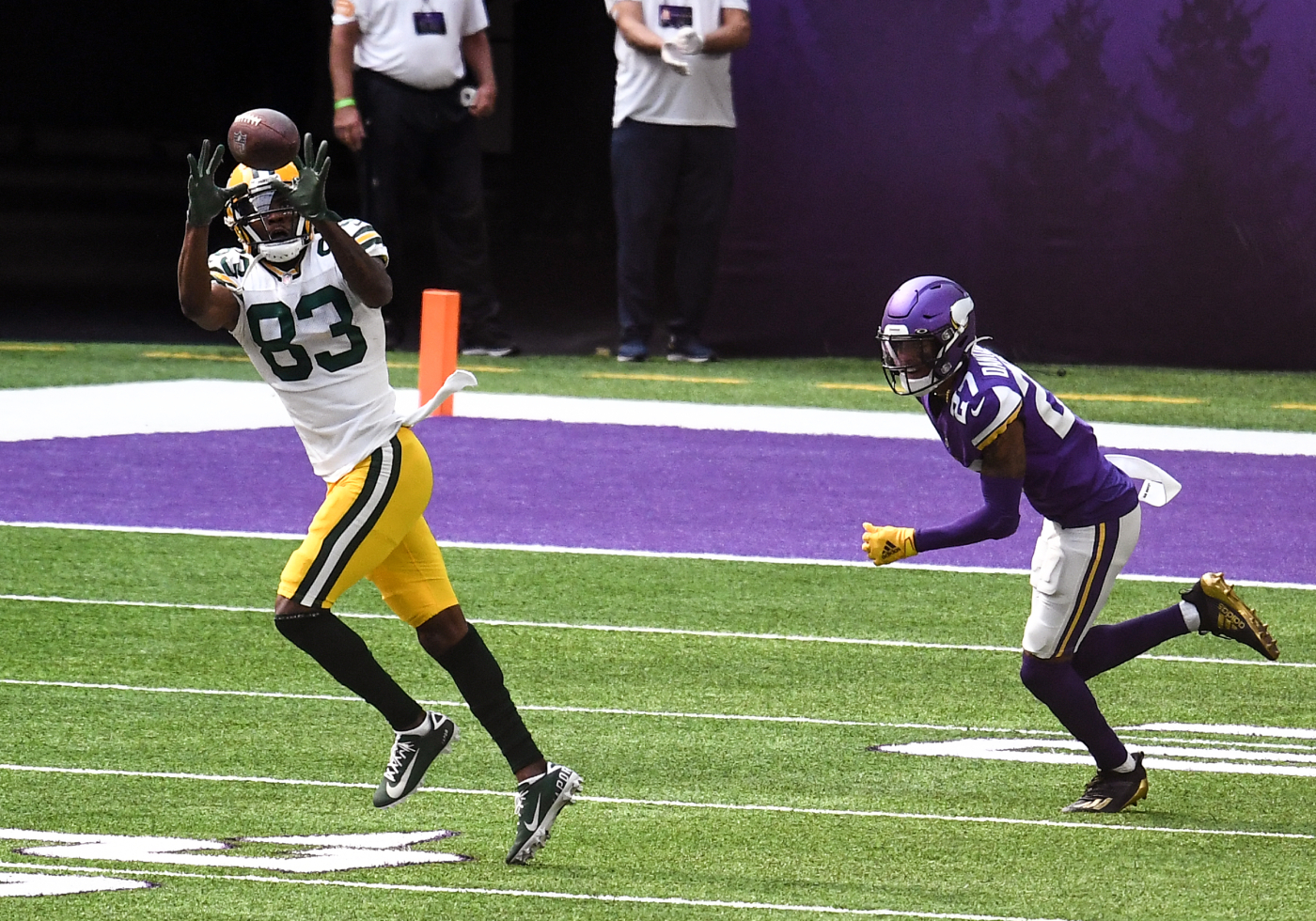 Marquez Valdes-Scantling and the Green Bay Packers wide receivers had a strong day Sunday.
