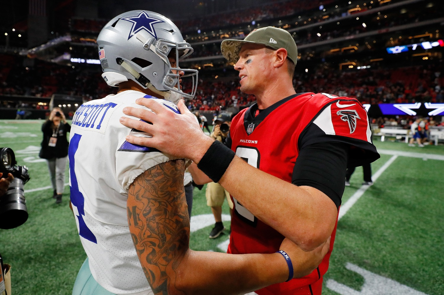The Atlanta Falcons sent a powerful political message to the Dallas Cowboys just days before the two NFC teams square off.