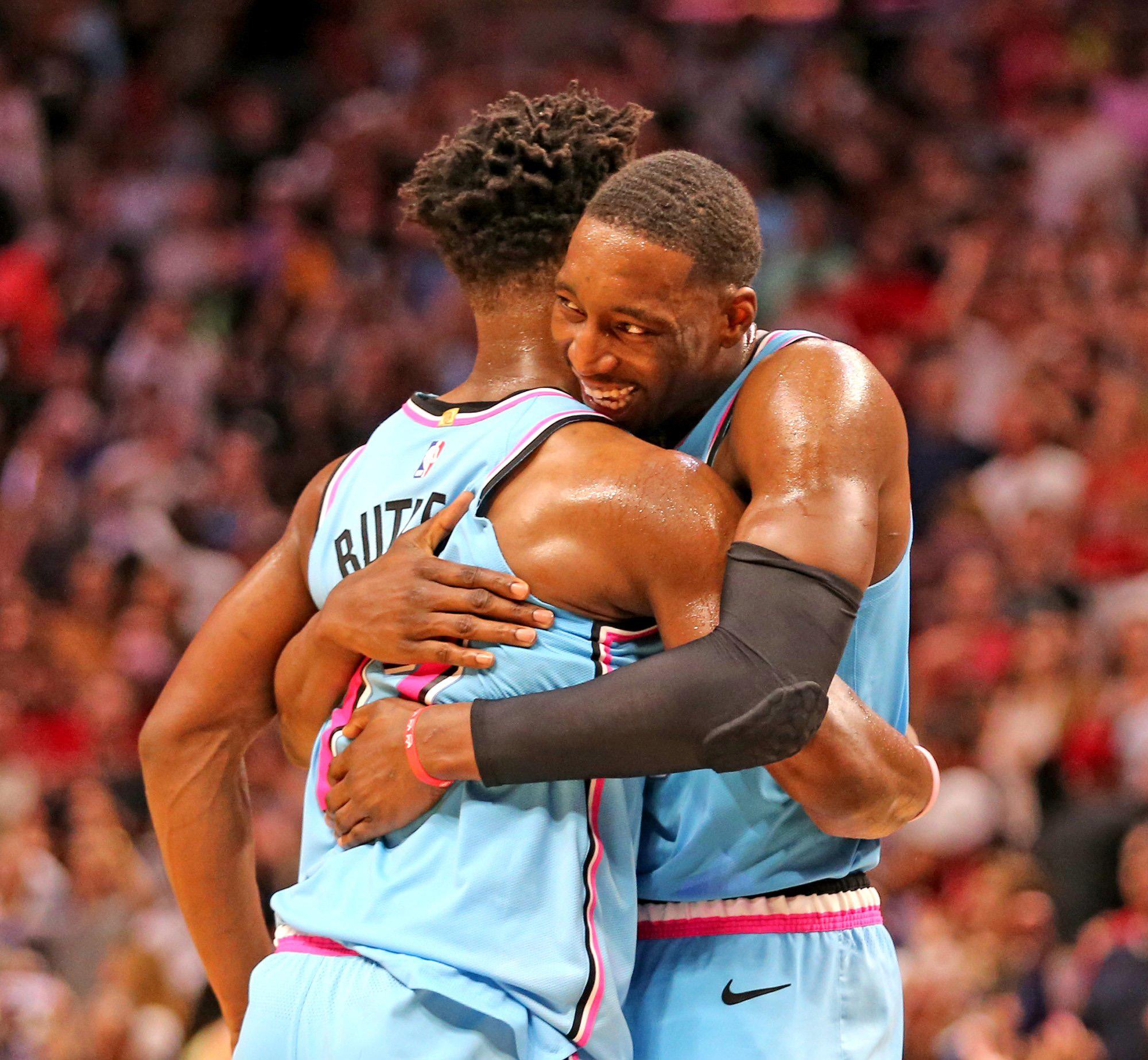 Heat's Jimmy Butler and Bam Adebayo