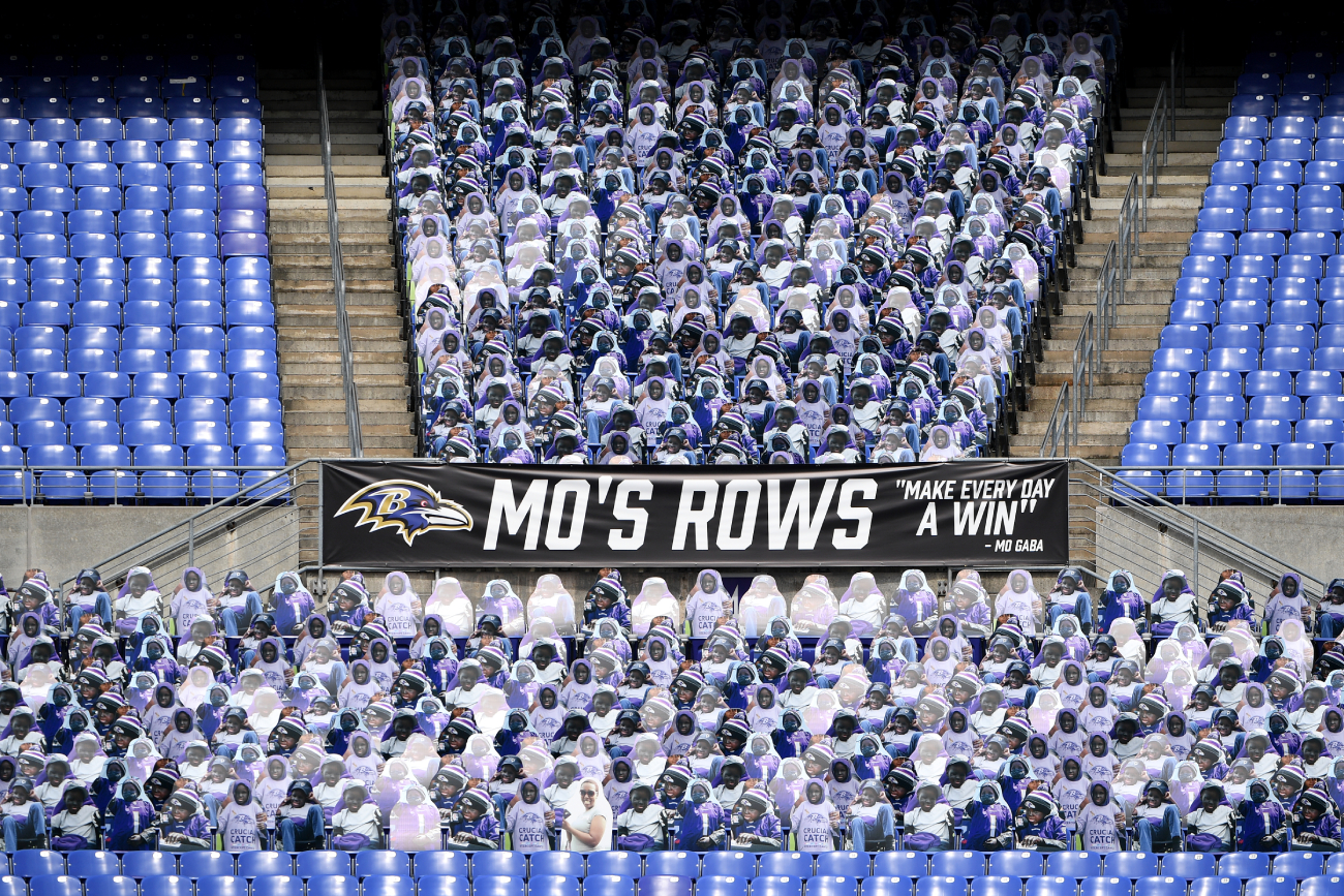 The Baltimore Ravens honored Mo Gaba at their game Sunday with a touching tribute.