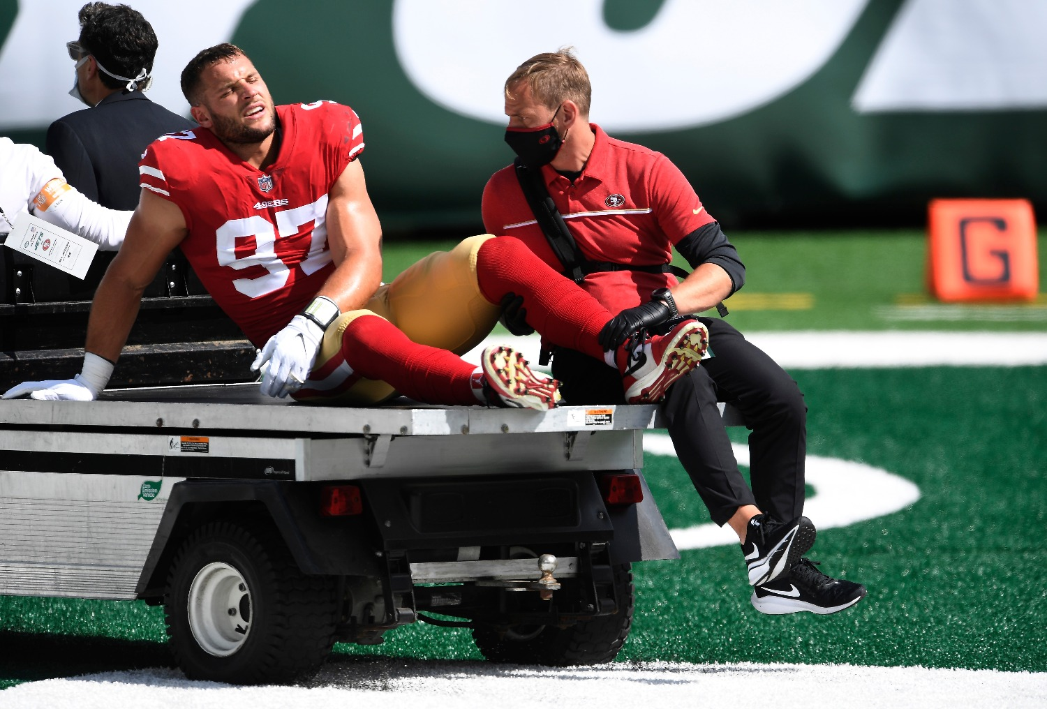 The 49ers suffered a devastating blow to their Super Bowl chances with Nick Bosa sustaining a torn ACL that ends his season.