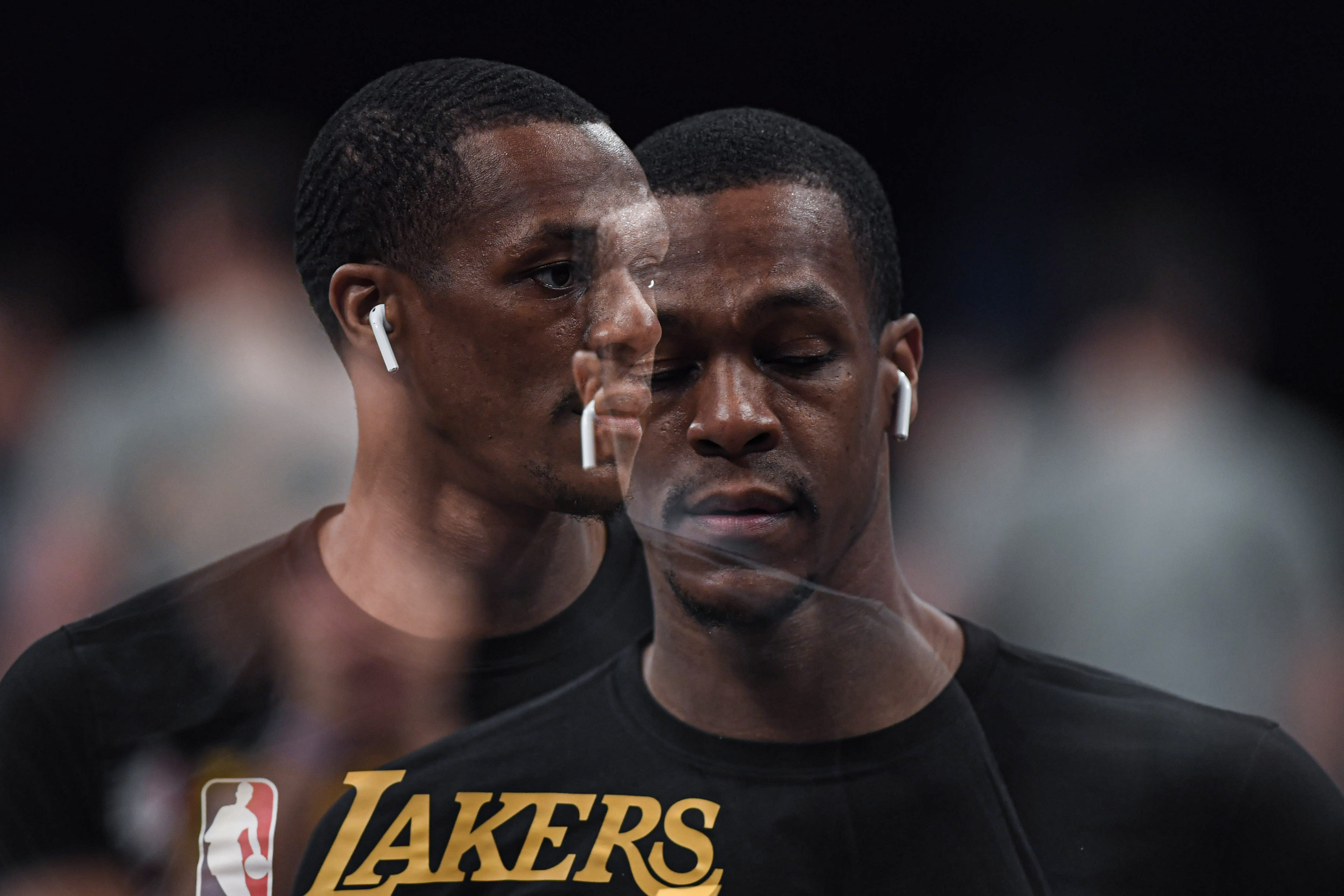 Los Angeles Lakers' Rajon Rondo
