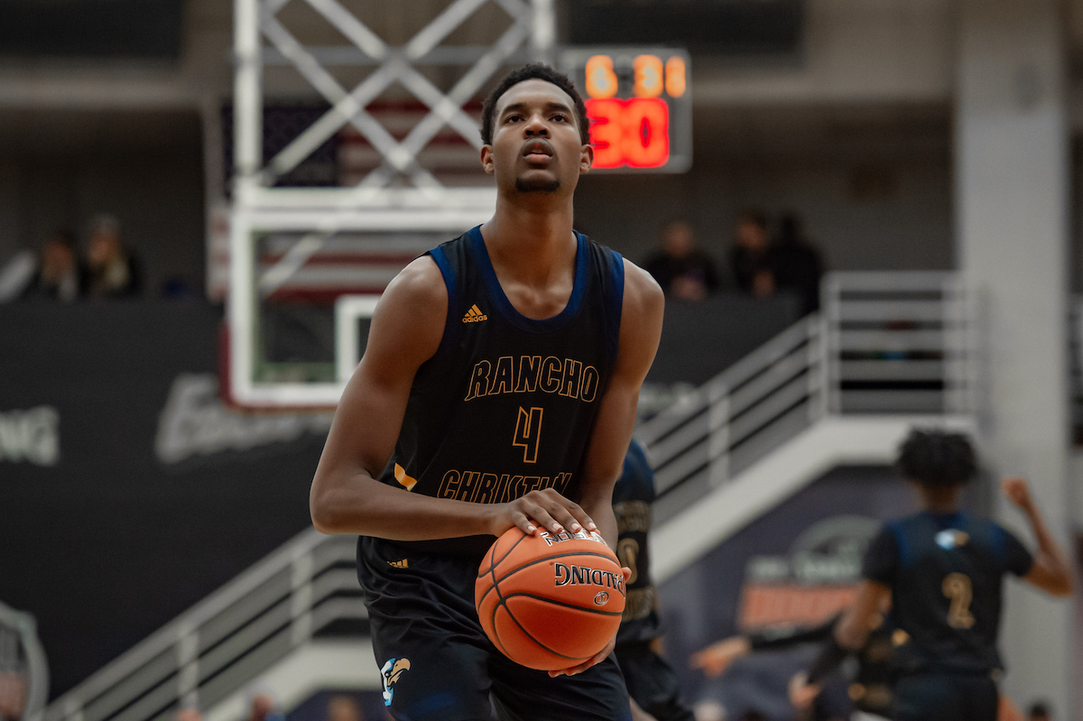 Basketball player Evan Mobley