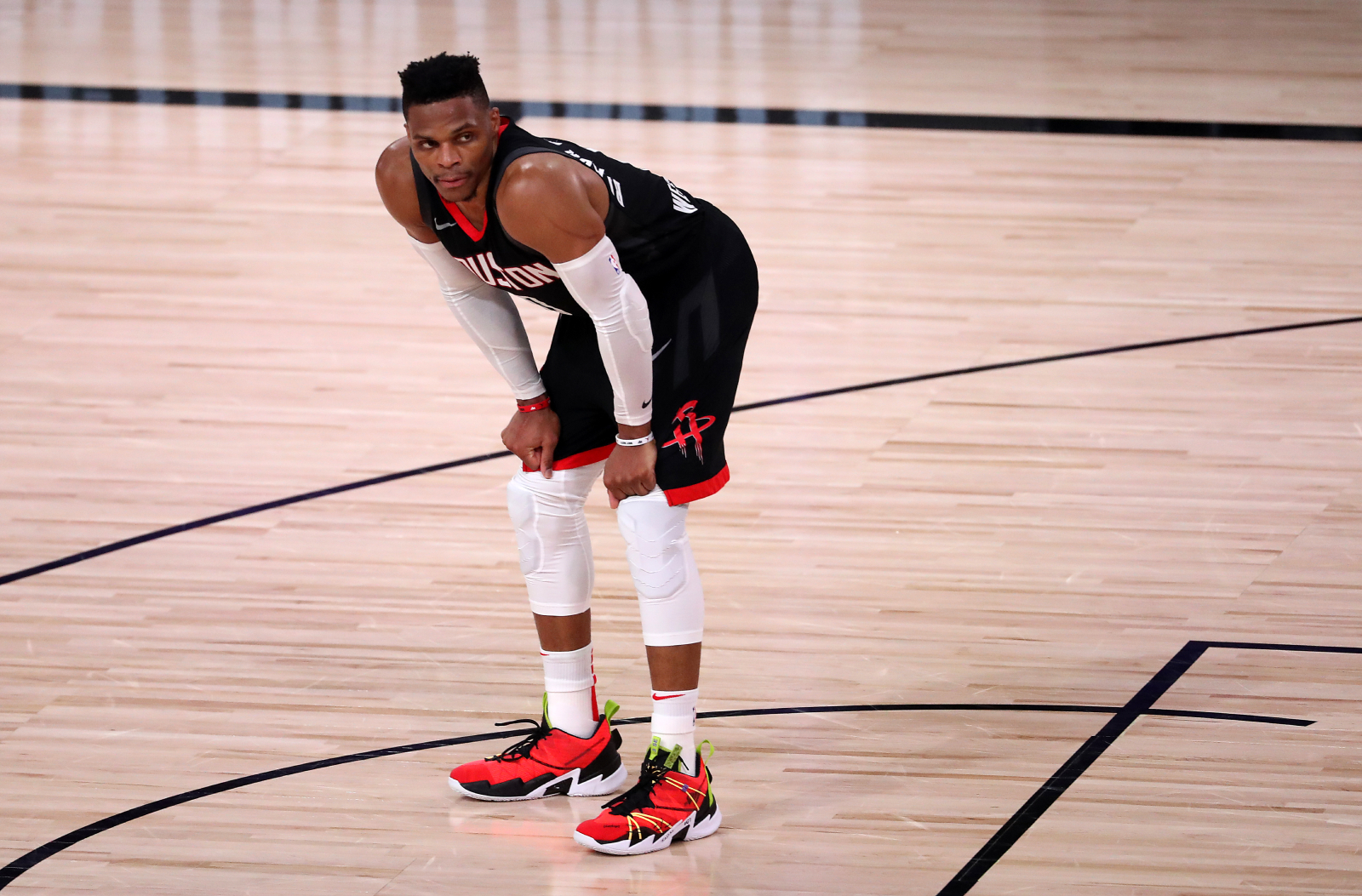 Russell Westbrook exchanged words with Rajon Rondo's brother during a recent playoff game. The Rockets' star was not happy after the game.