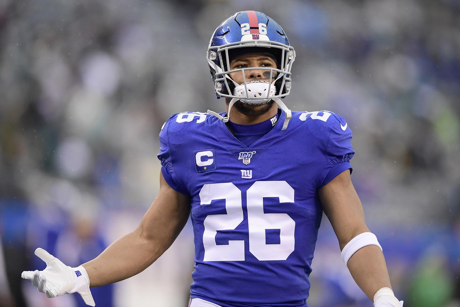 Saquon Barkley Tiki Barber criticism Giants NFL