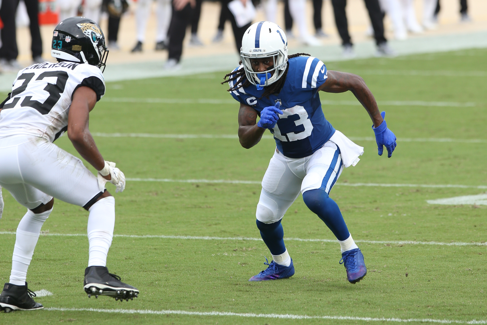 T.Y. Hilton has been extremely reliable for the Colts. After some disappointing performances this year, though, his grandma gave him a call.