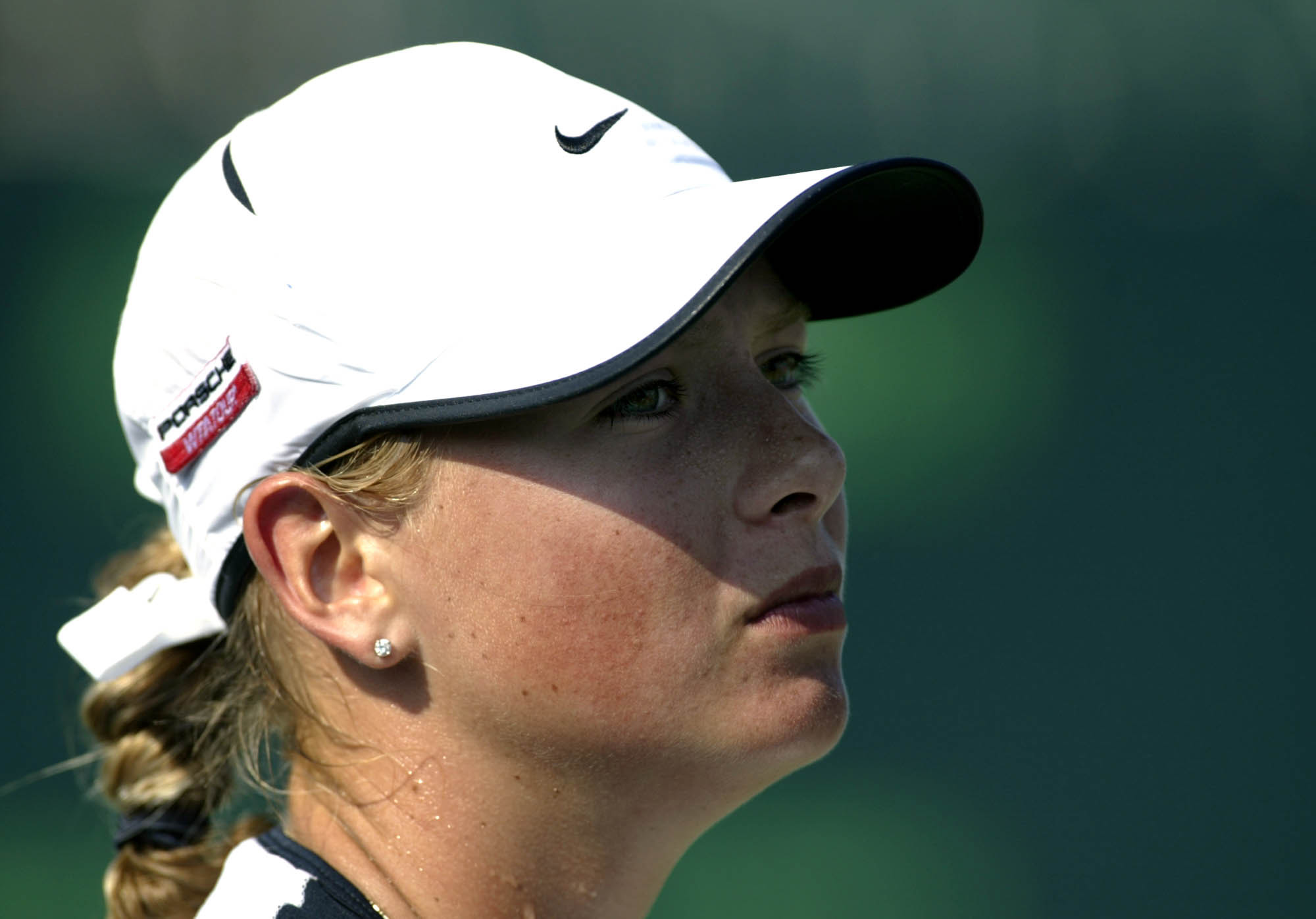 Maria Sharapova competes in 2003