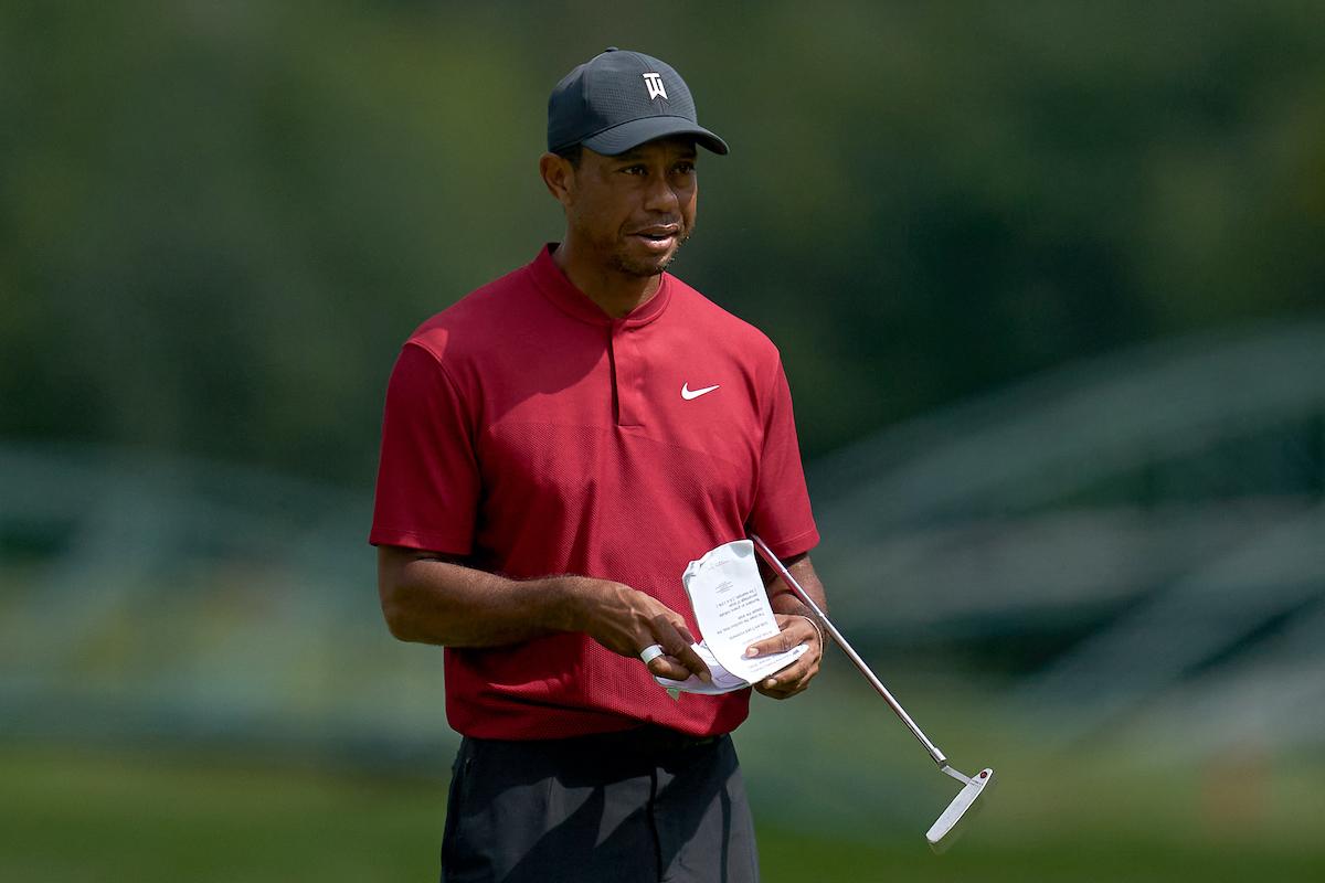 Golf course designer and golfer Tiger Woods
