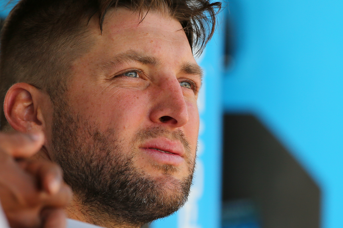 Baseball player Tim Tebow