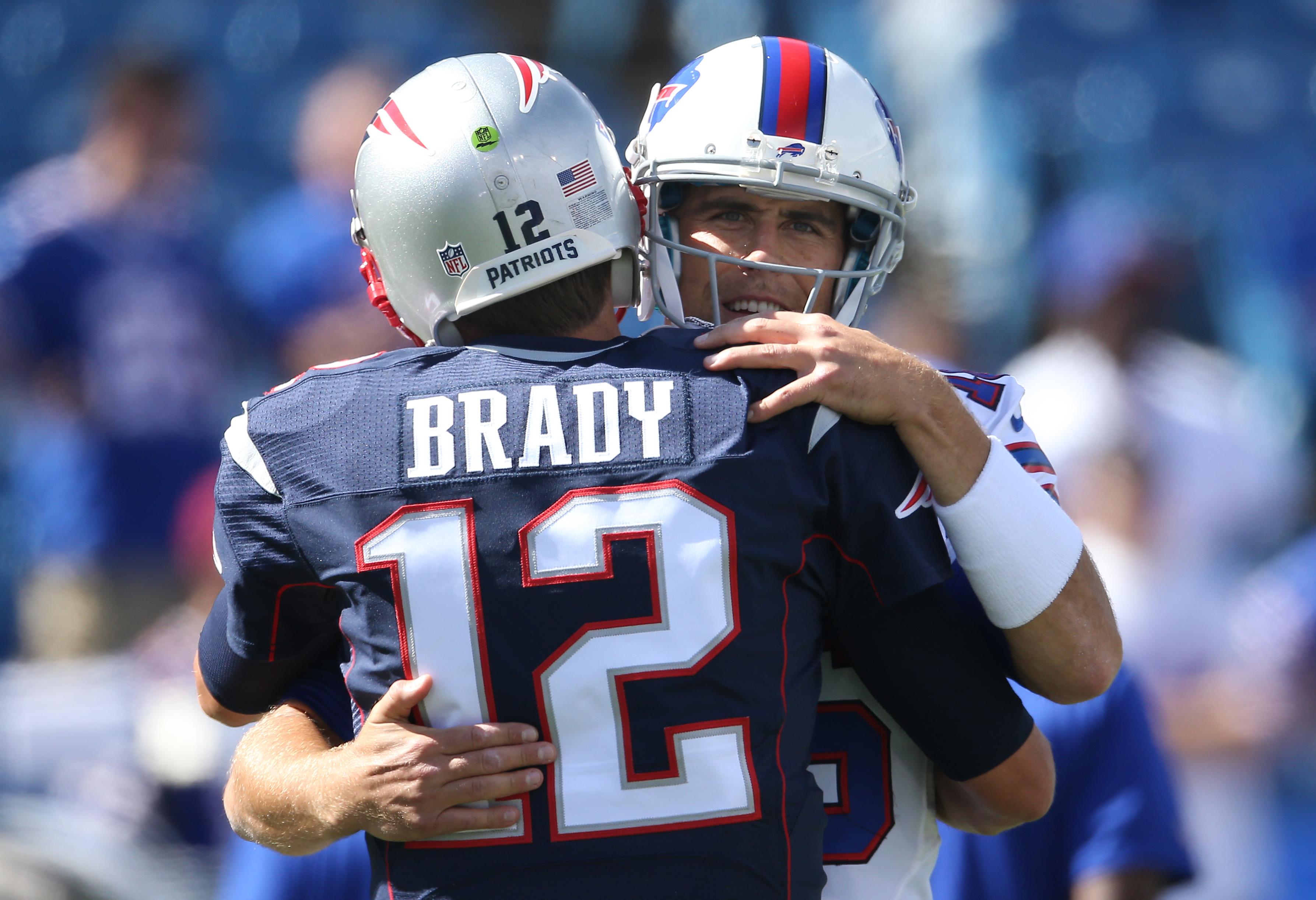 Quarterbacks Matt Cassel and Tom BRady